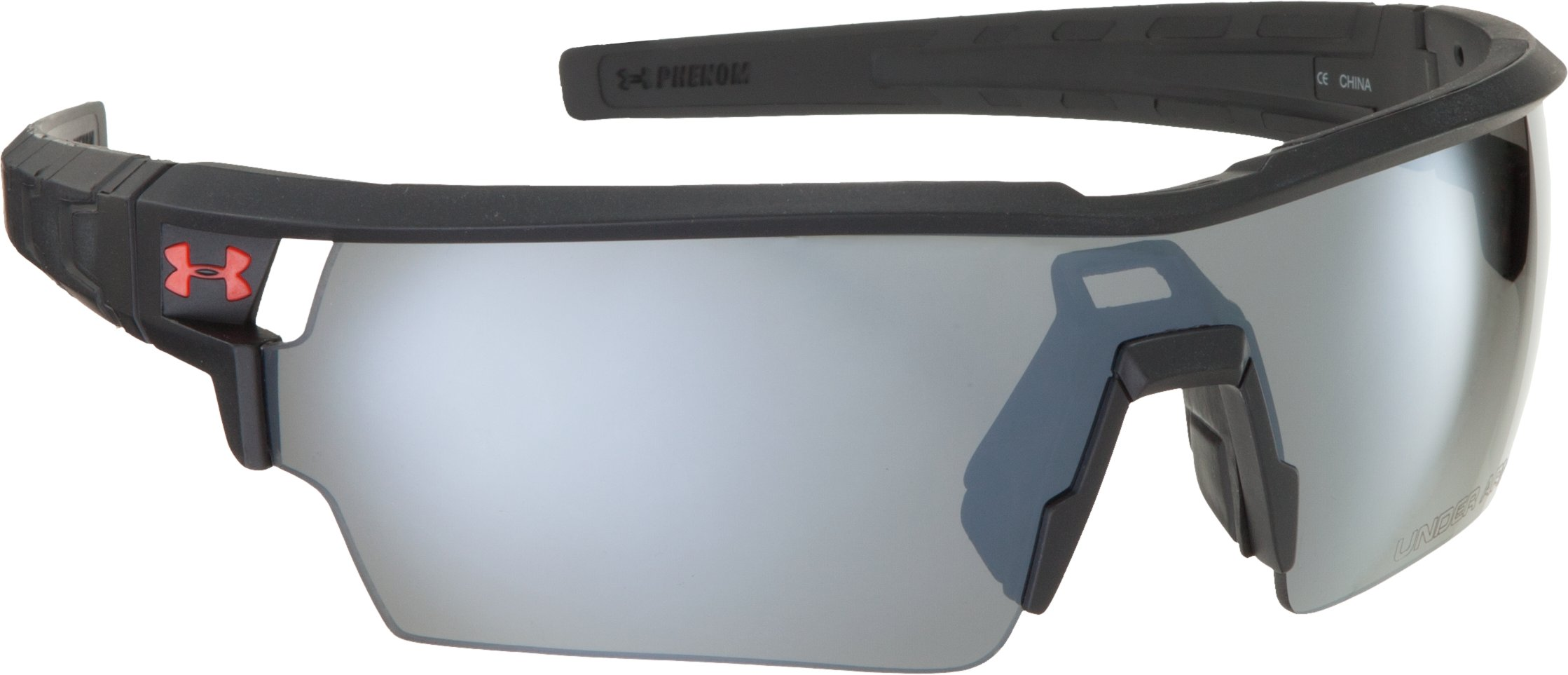 UA Phenom Sunglasses, Shiny Black