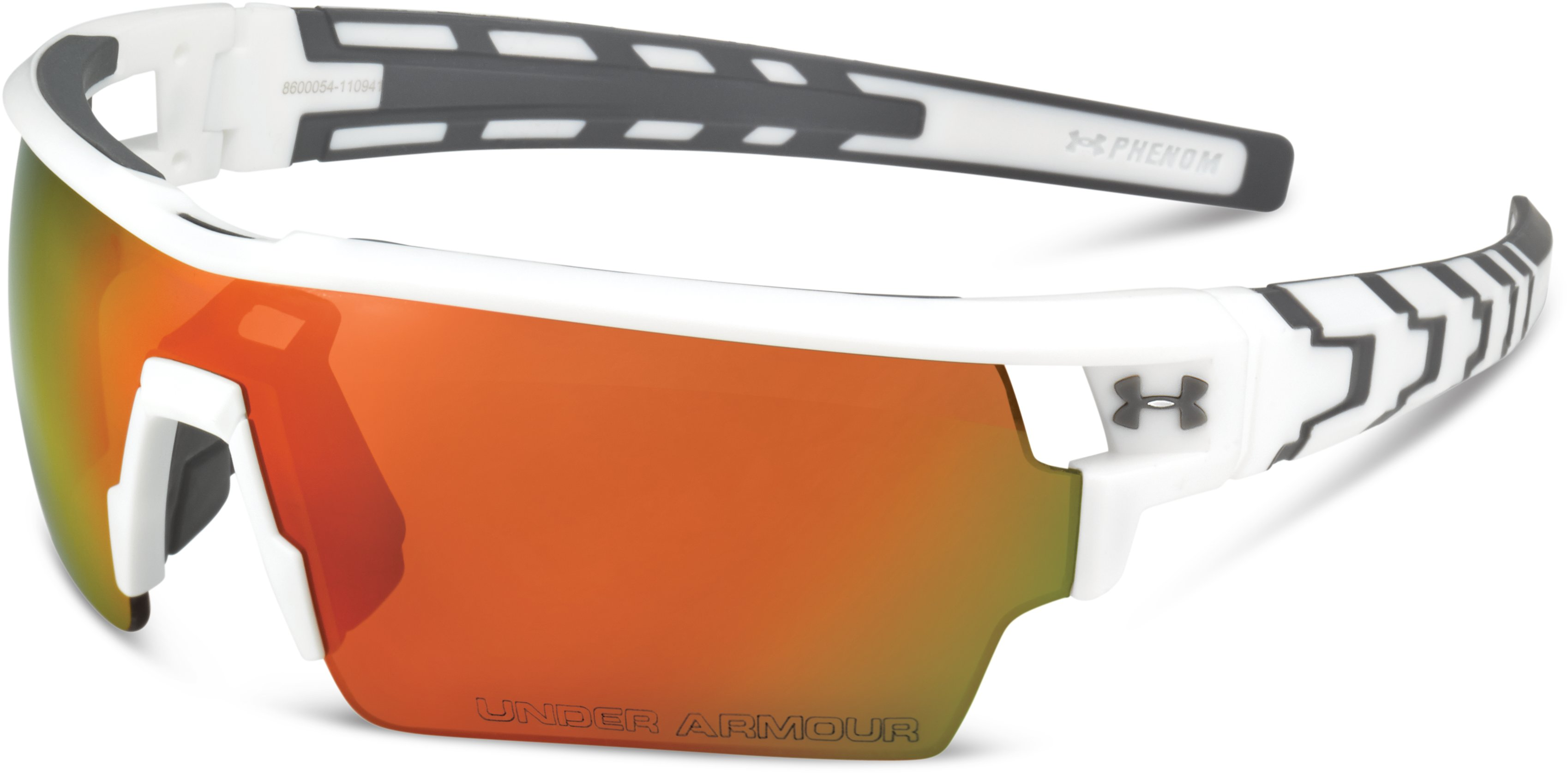 UA Phenom Sunglasses, Shiny White, zoomed image