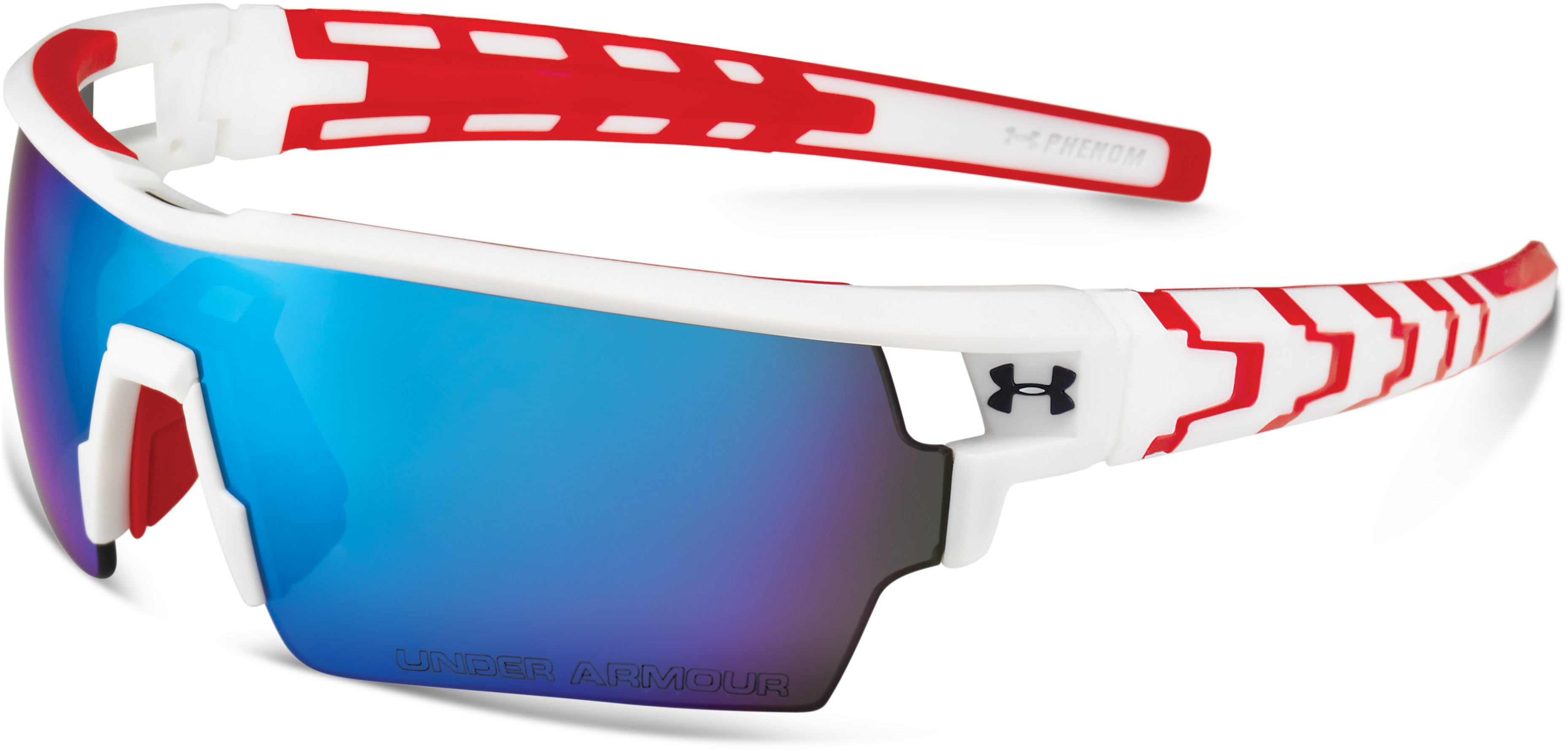 UA Phenom Sunglasses, SATIN WHITE