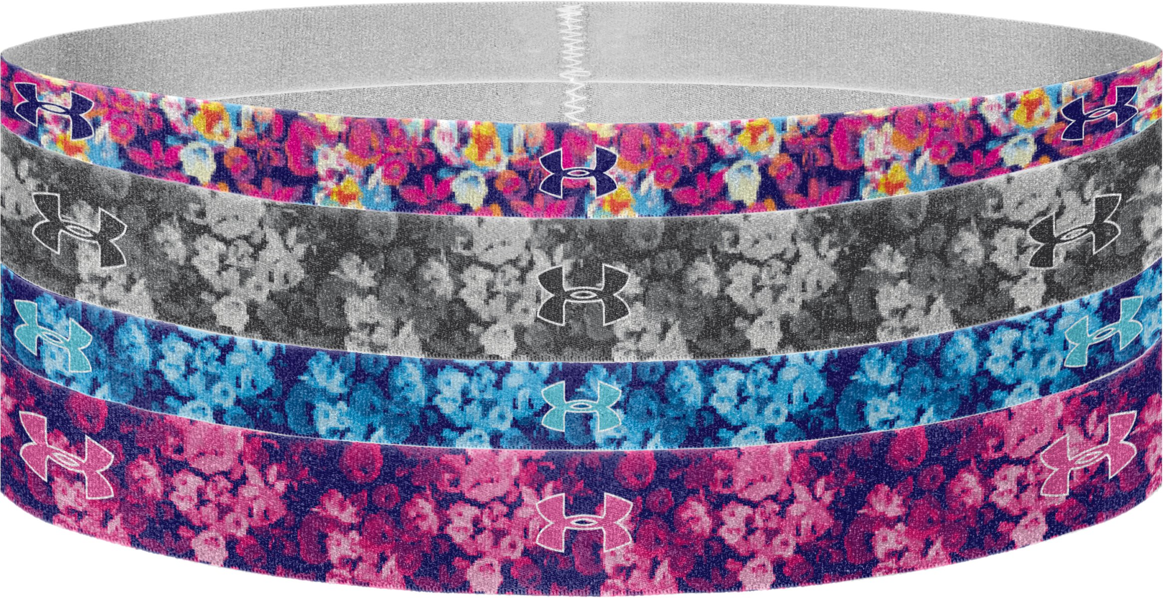 Women's UA Graphic Elastic Headband – 4pk, ELECTRIC BLUE, undefined