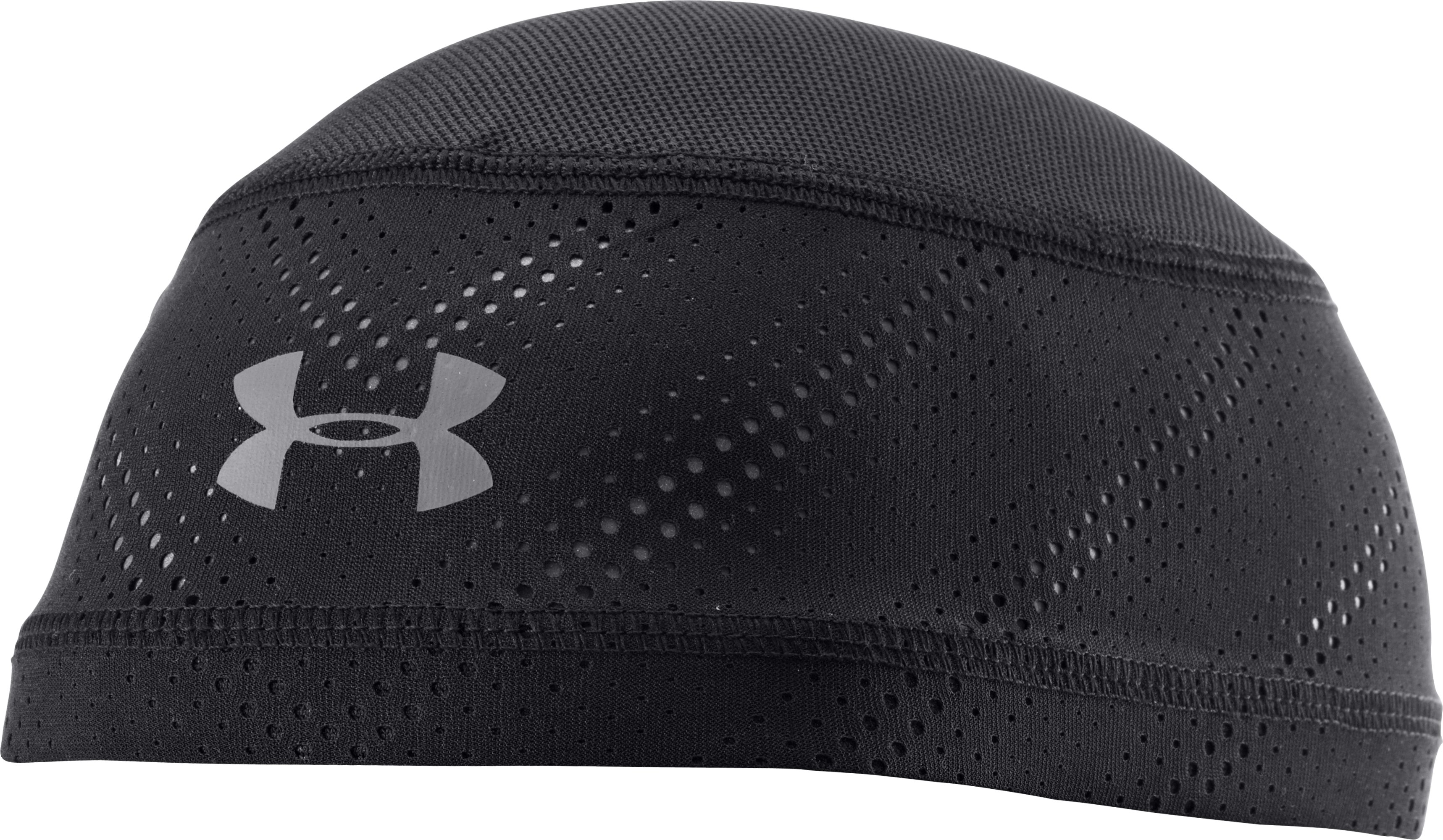 Men's HeatGear® ArmourVent™ Skull Cap, Black , zoomed image