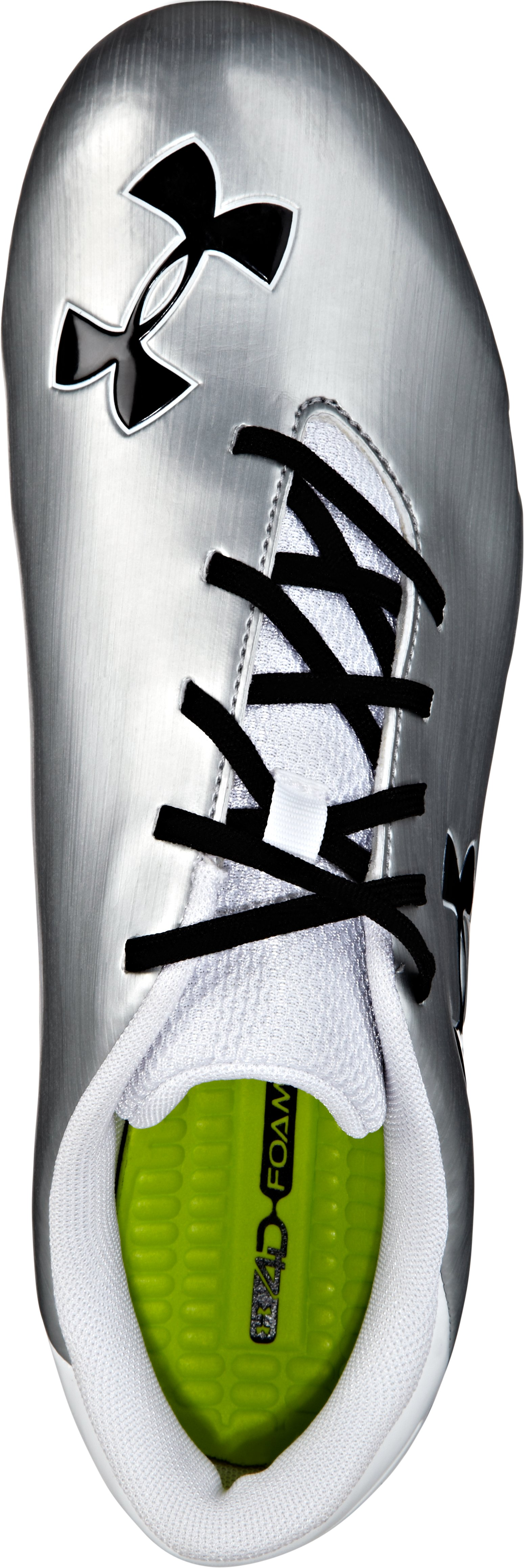 Women's UA Blur MC Lacrosse Cleat, Metallic Silver,