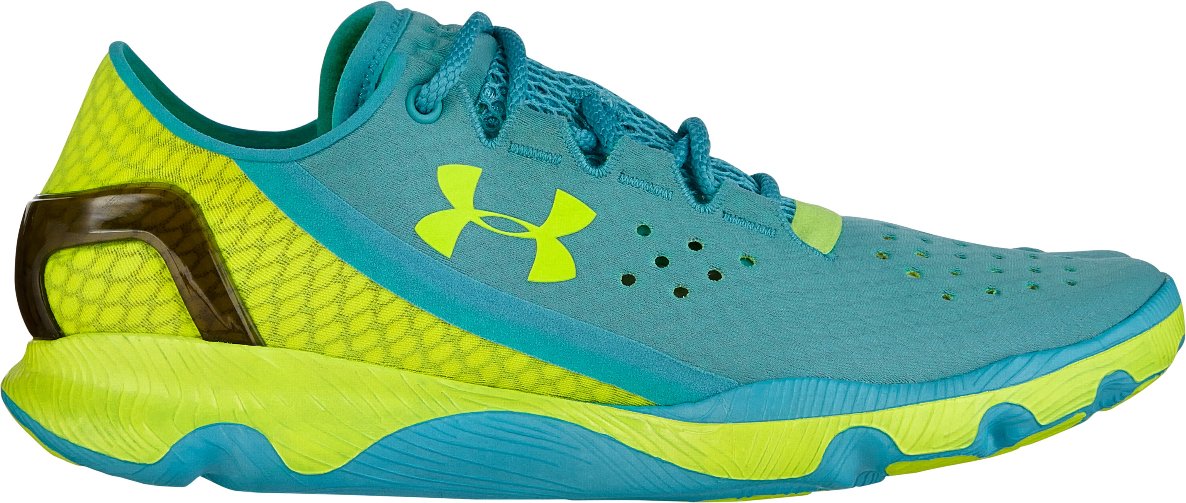 Women's UA SpeedForm® Apollo Running Shoes, BREATHTAKING BLUE, zoomed image