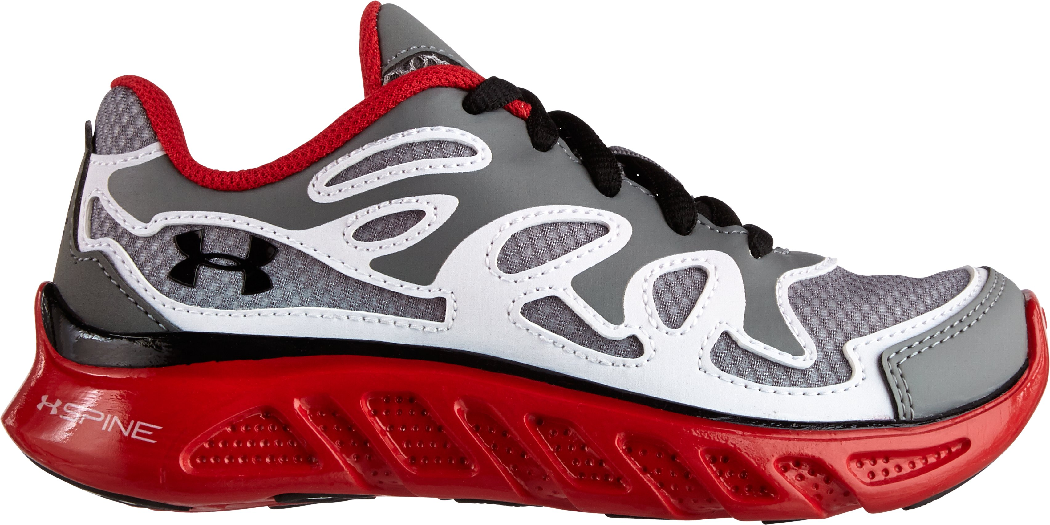 Boys' UA Spine™ Evo Pre-School Shoes, Graphite, zoomed image