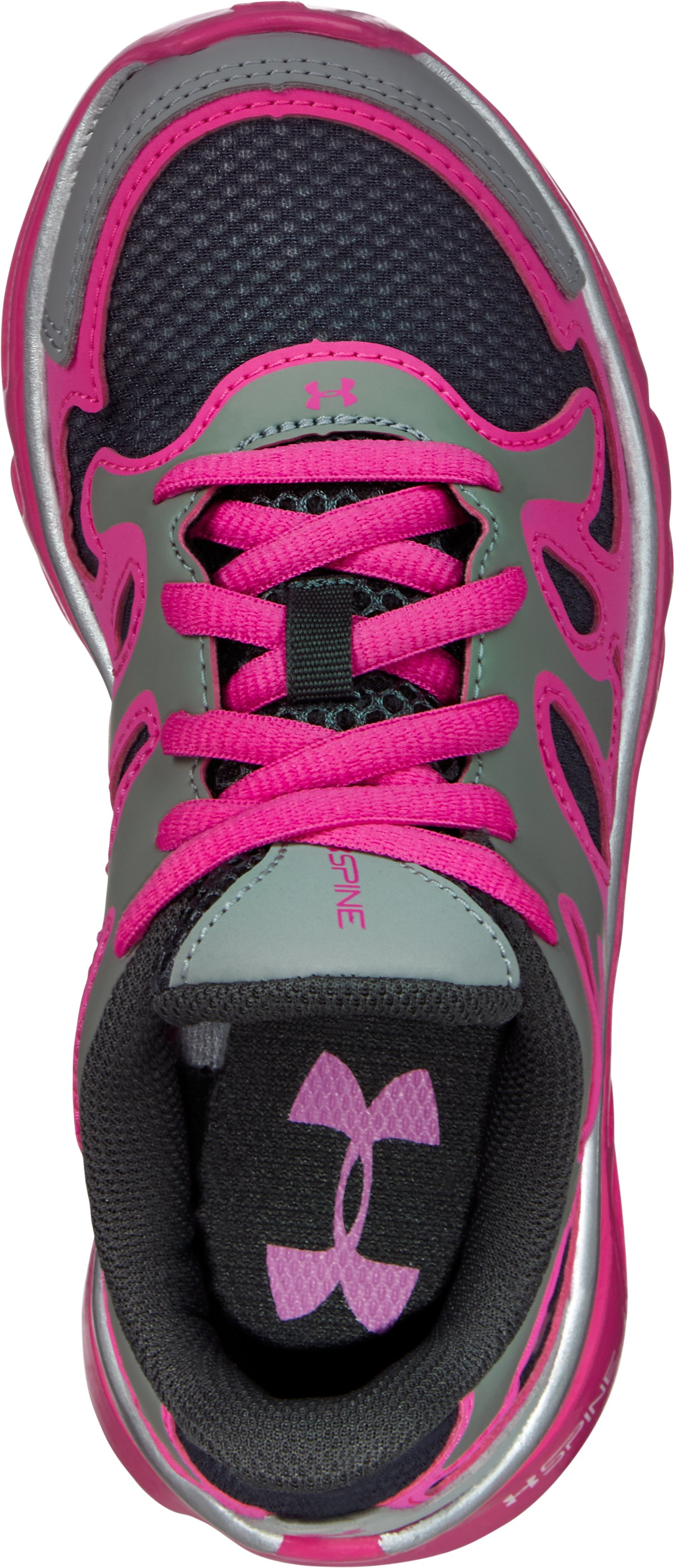 Girls' Pre-School UA Spine Evo Running Shoes, Steel