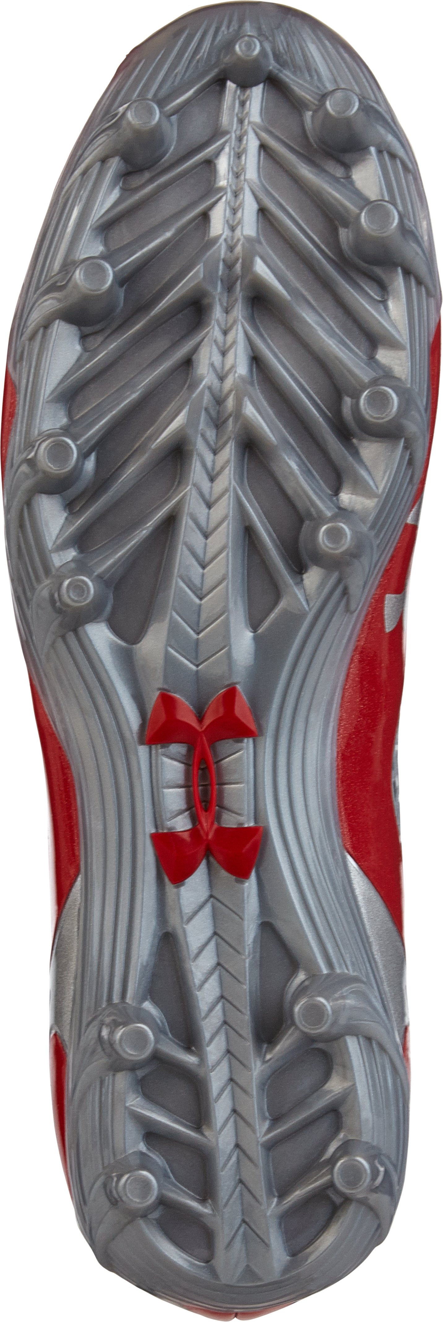 Kids' UA C1N MC Football Cleats, Red