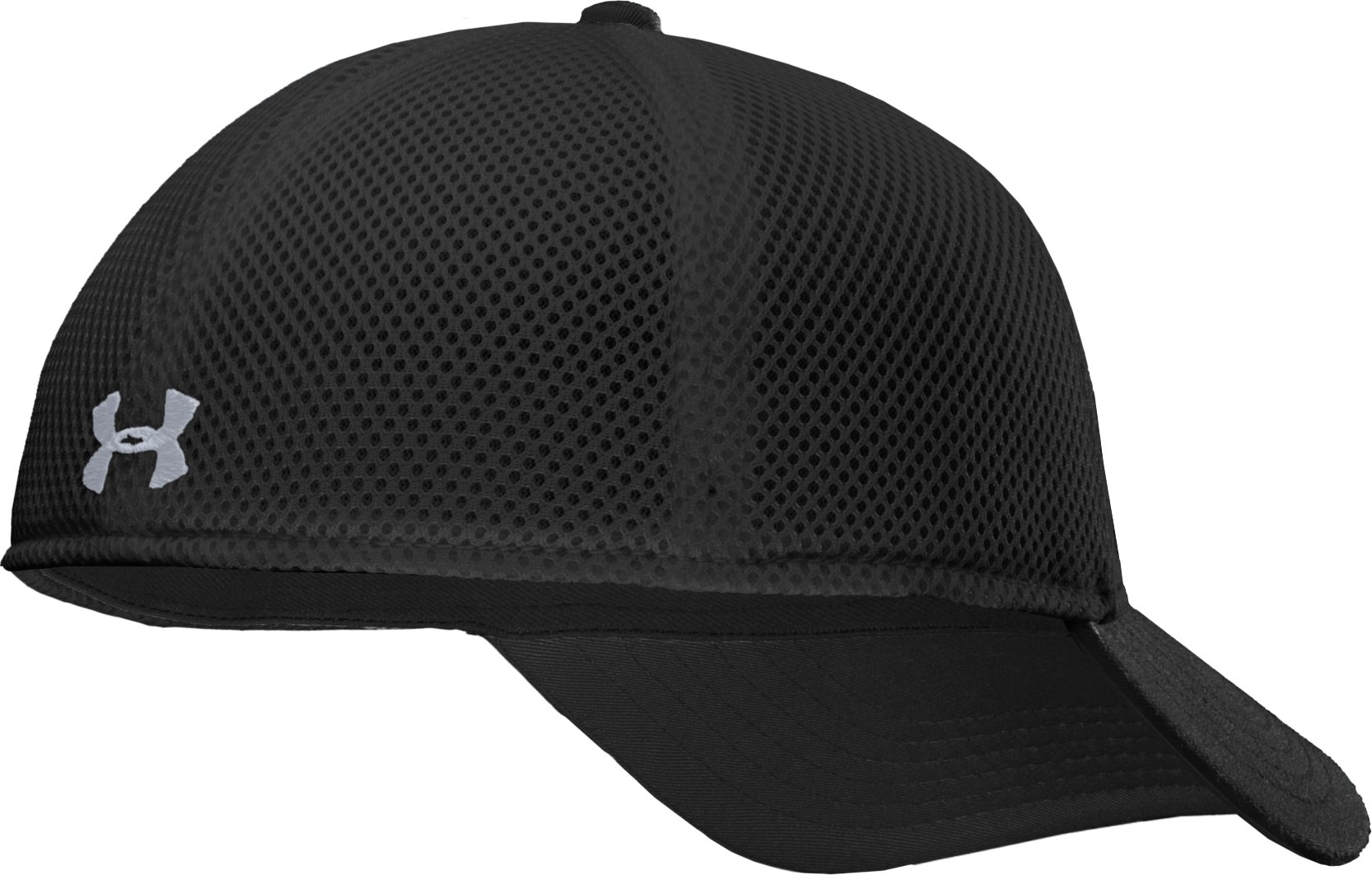 Men's UA Stand Out Stretch Fit Cap, Black