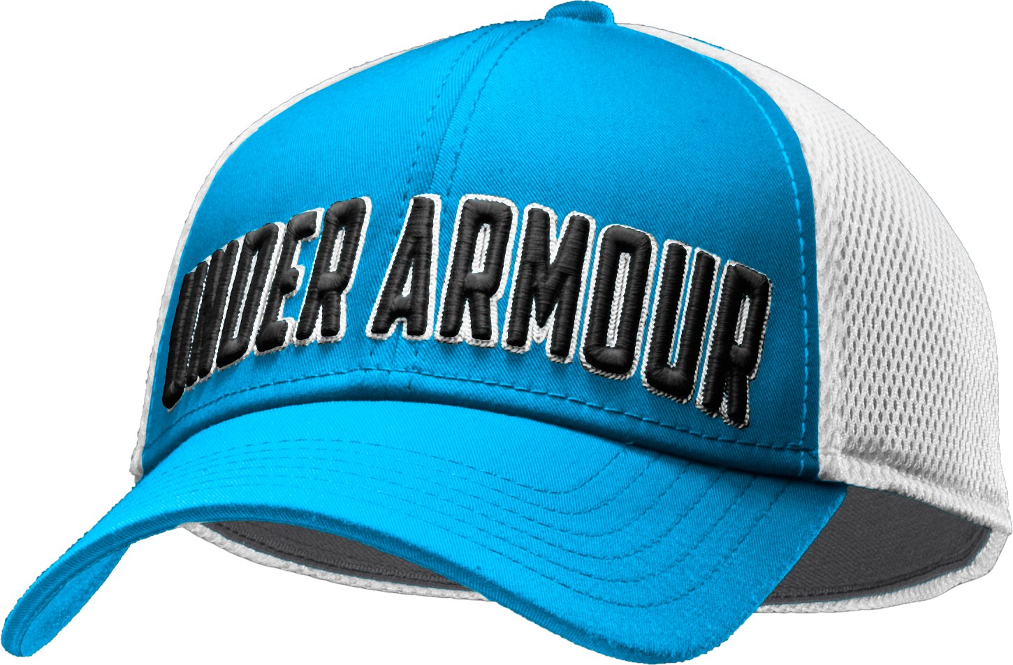 Men's UA Stand Out Stretch Fit Cap, ELECTRIC BLUE, zoomed image