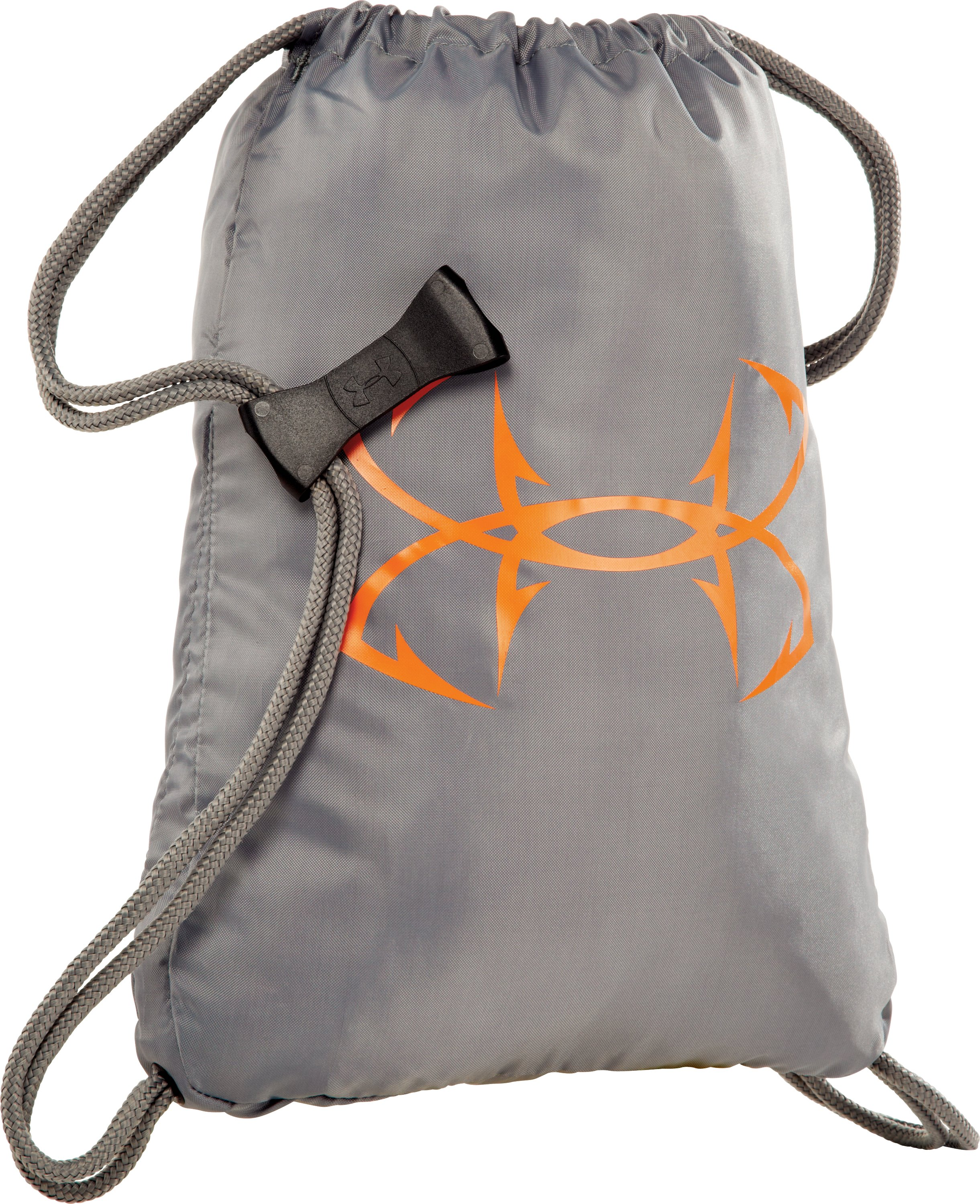 UA Fish Hook Logo Sackpack, Storm
