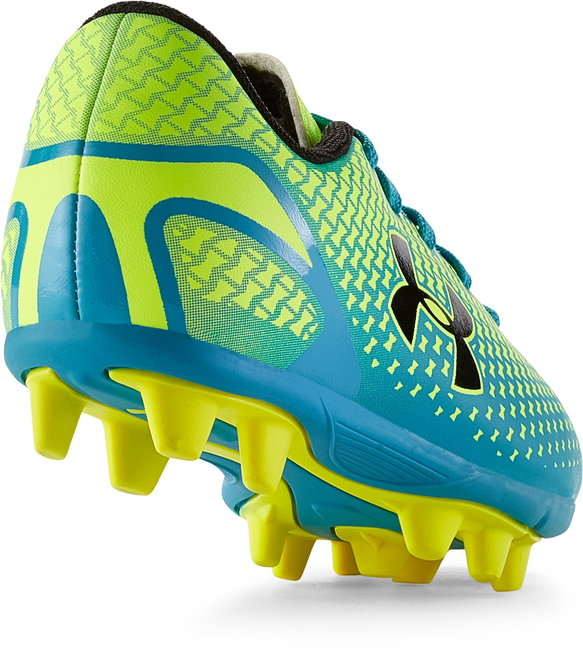 Kids' UA Speed Force HG Soccer Cleats, High-Vis Yellow