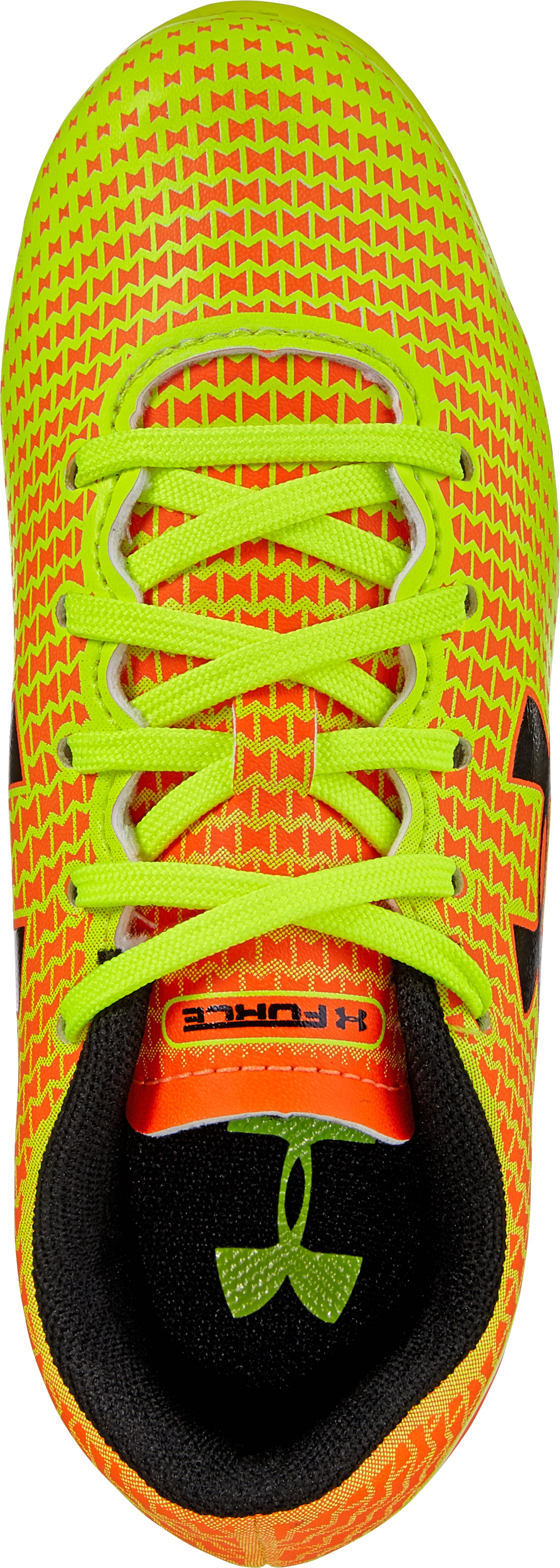 Kids' UA Speed Force HG Soccer Cleats, Blaze Orange