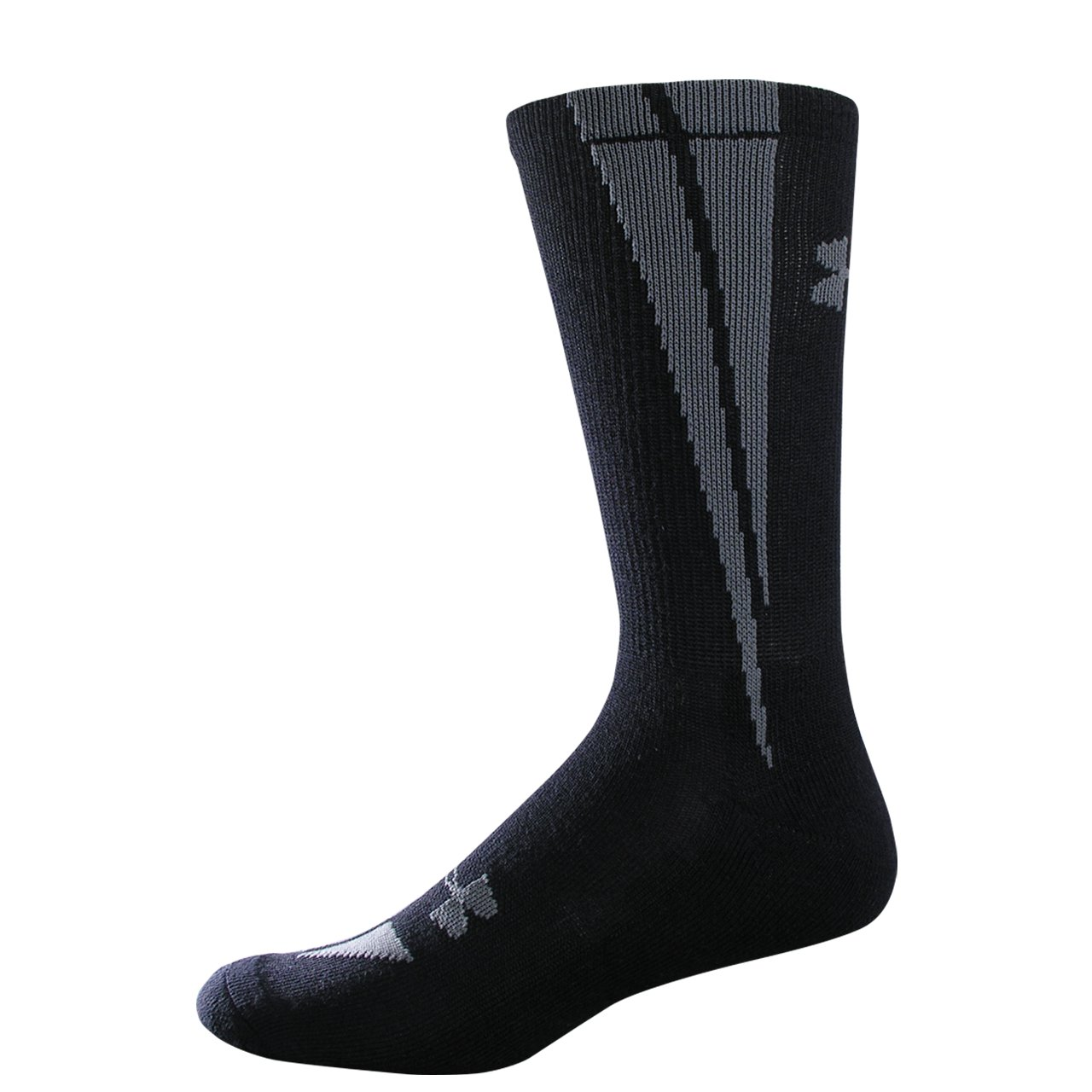 Kids' UA Ignite Crew Socks, Black , undefined