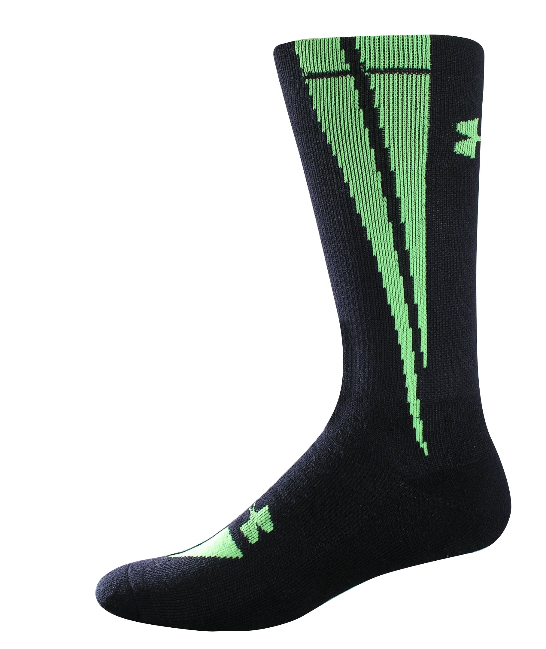 Kids' UA Ignite Crew Socks, Black , zoomed image
