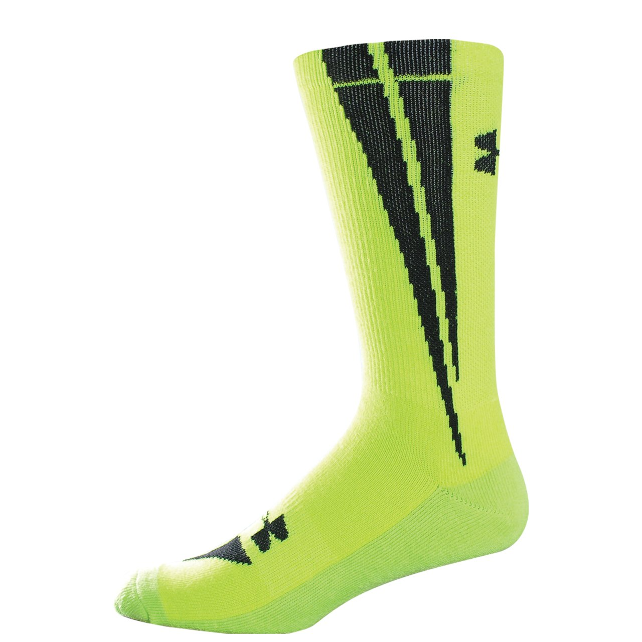 Kids' UA Ignite Crew Socks, High-Vis Yellow, zoomed image