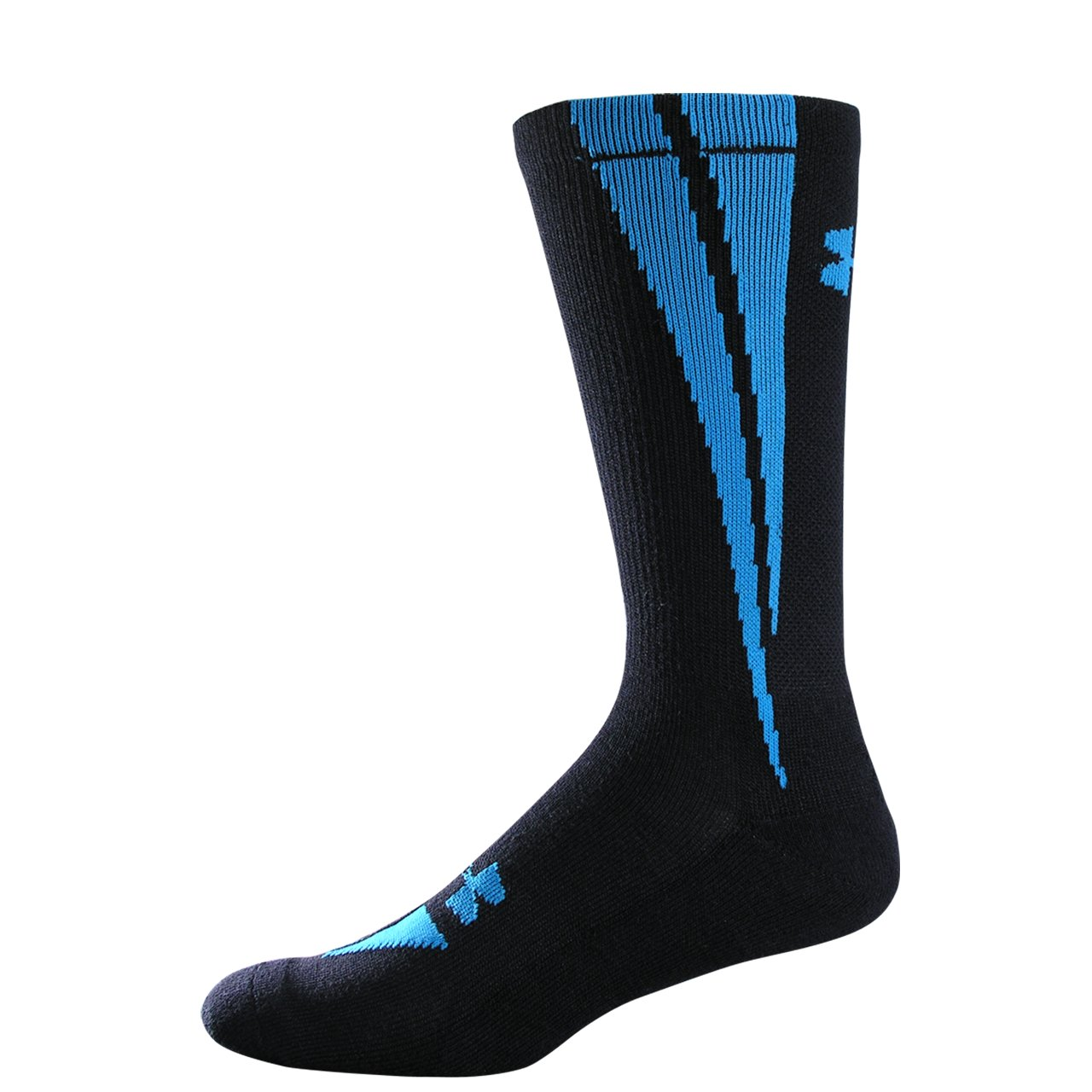 UA Ignite Crew Socks, Black , undefined