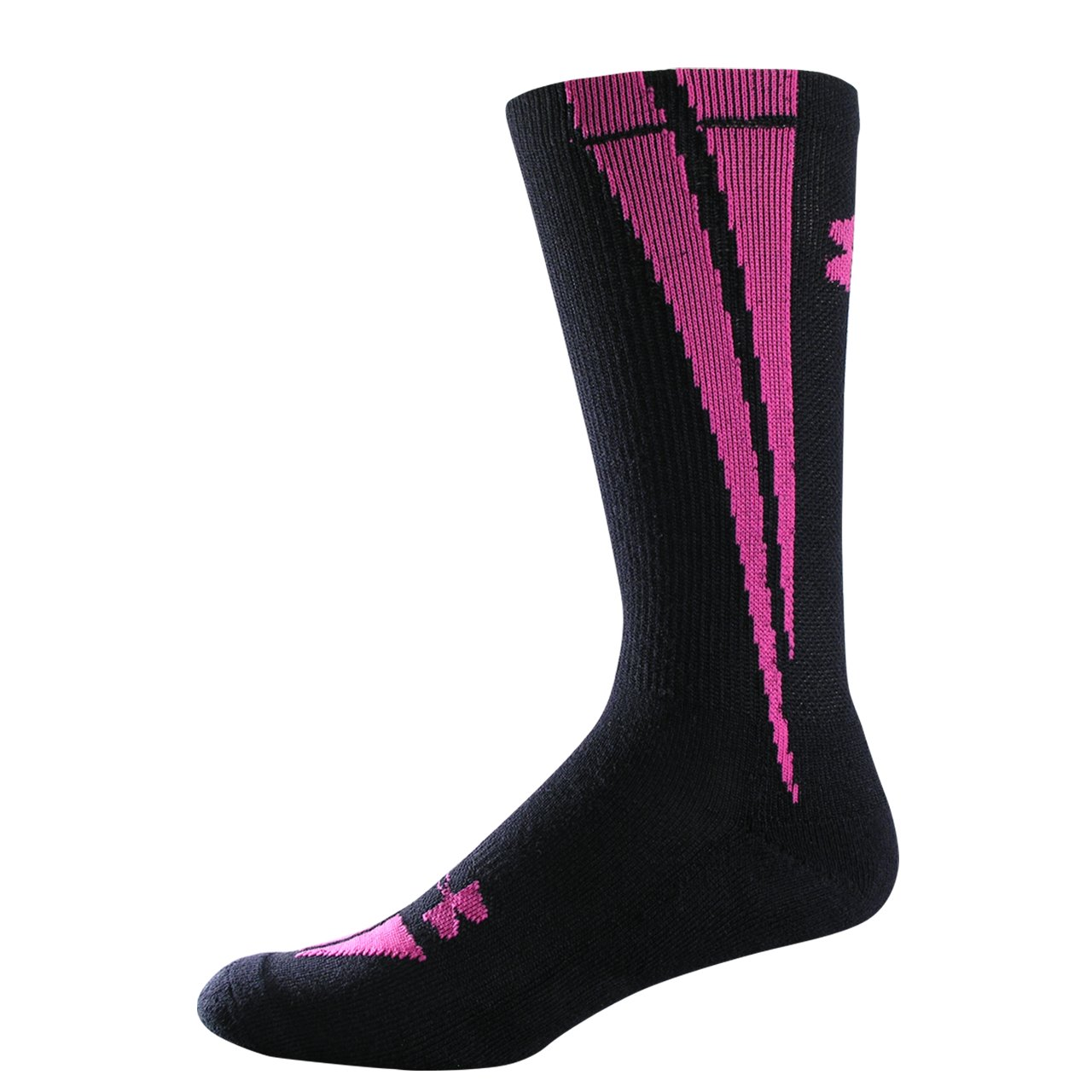 UA Ignite Crew Socks, Black , zoomed image