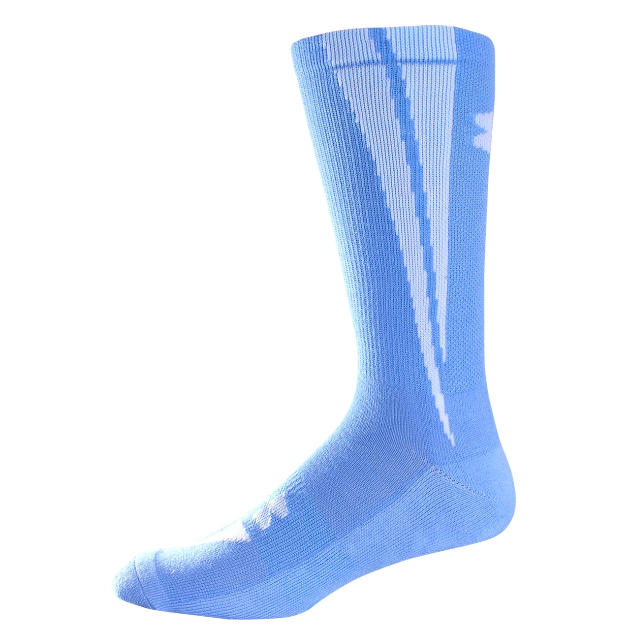 UA Ignite Crew Socks, Carolina Blue, zoomed image