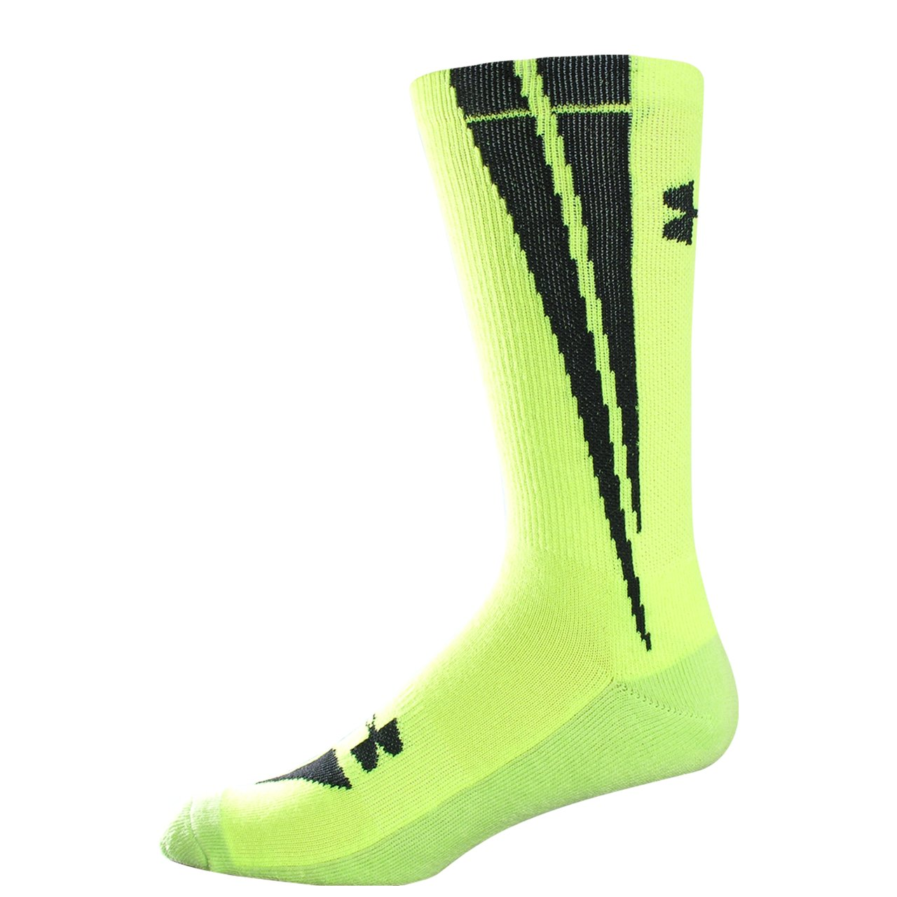 UA Ignite Crew Socks, High-Vis Yellow