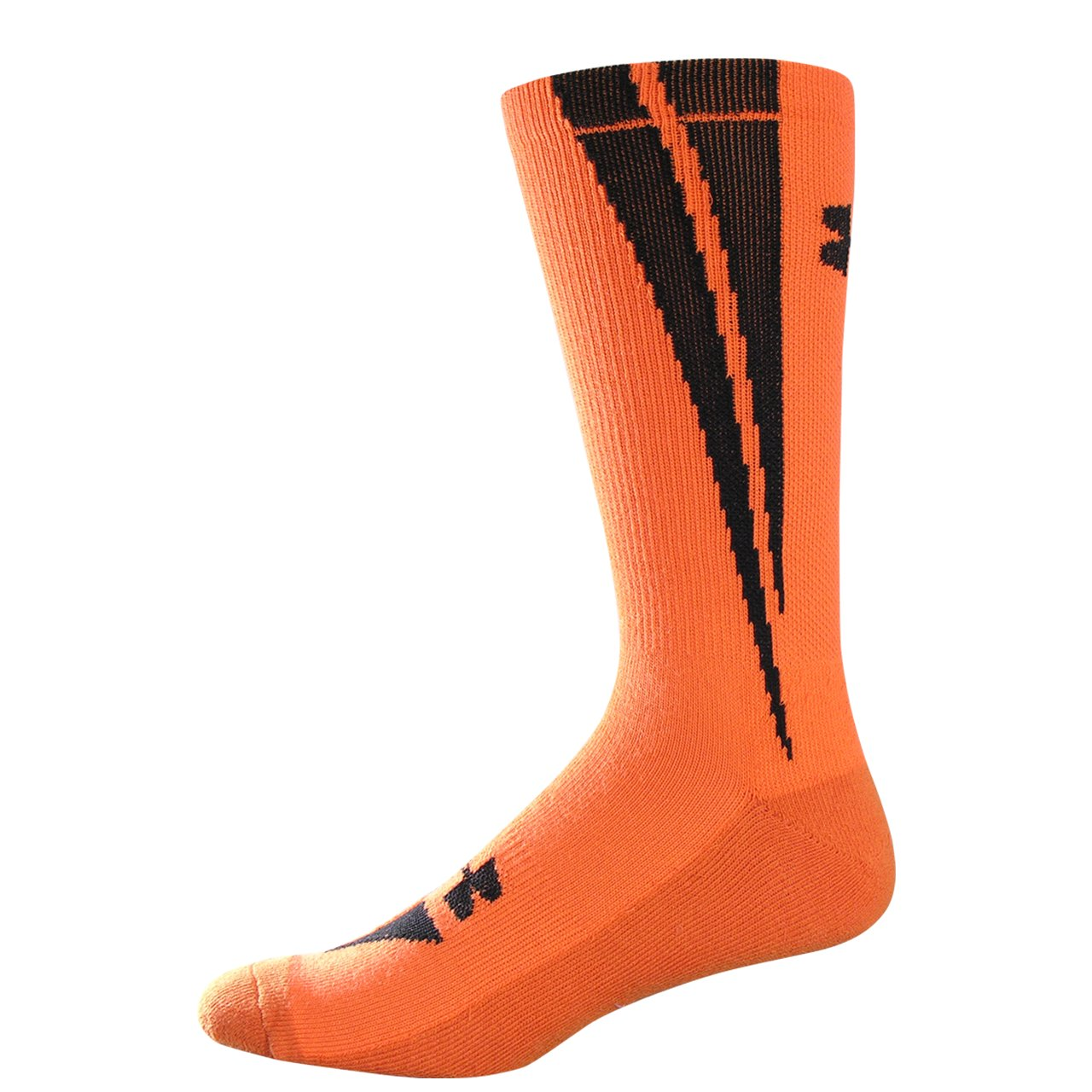 UA Ignite Crew Socks, Blaze Orange, undefined