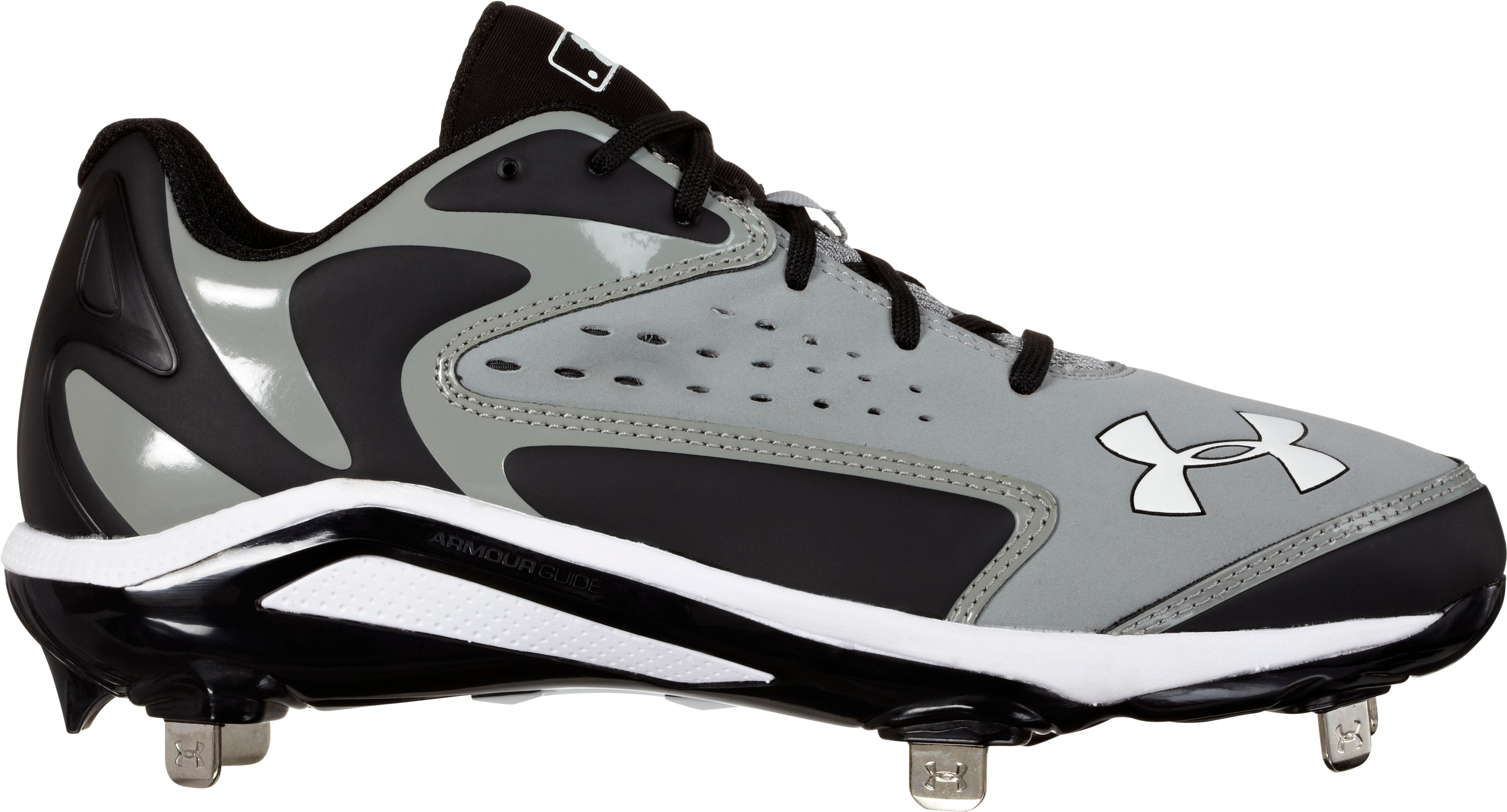Men's UA Yard Low ST Baseball Cleats, Baseball Gray, zoomed image