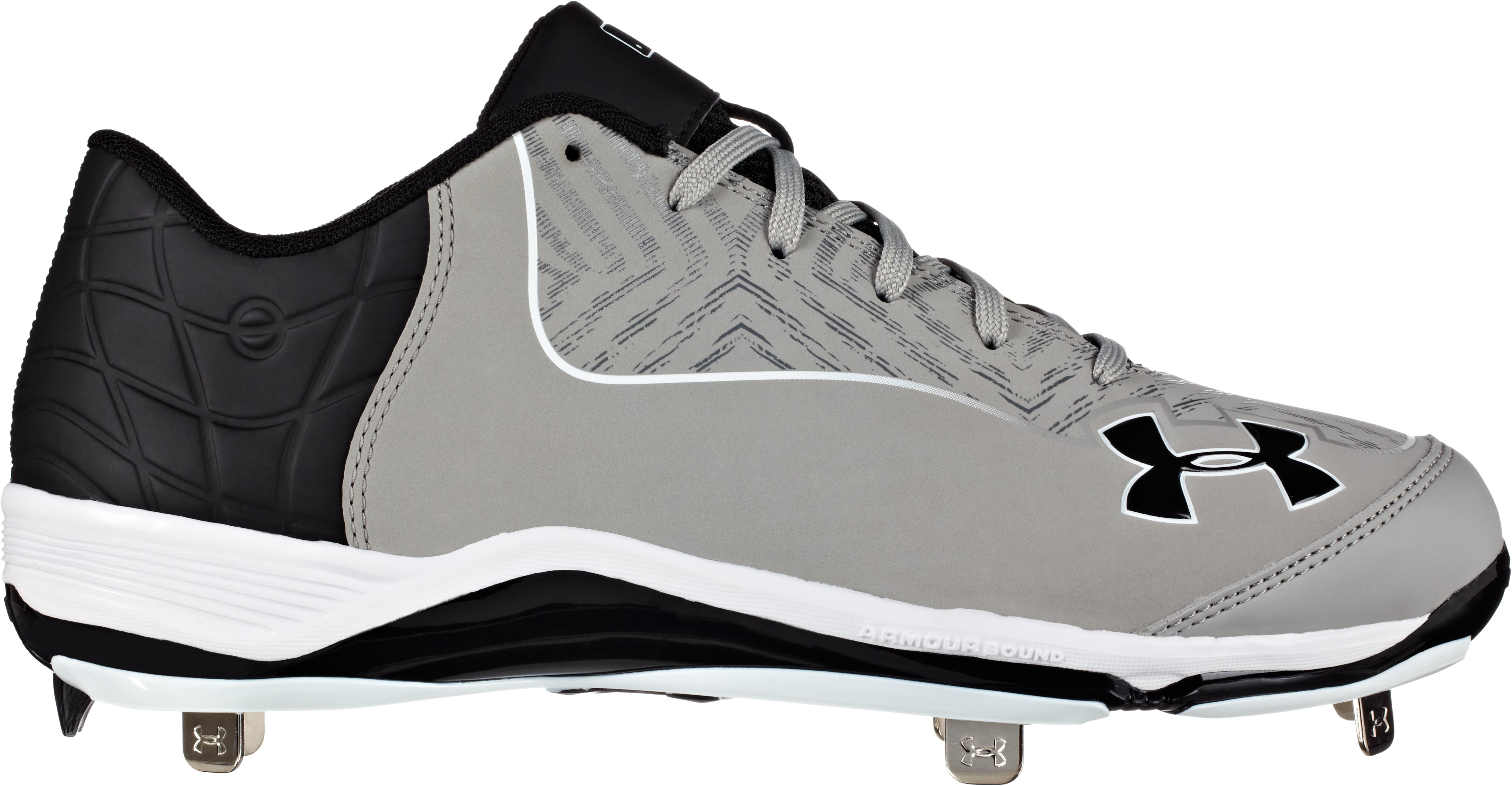 Men's UA Ignite Low ST CC Baseball Cleats, Baseball Gray