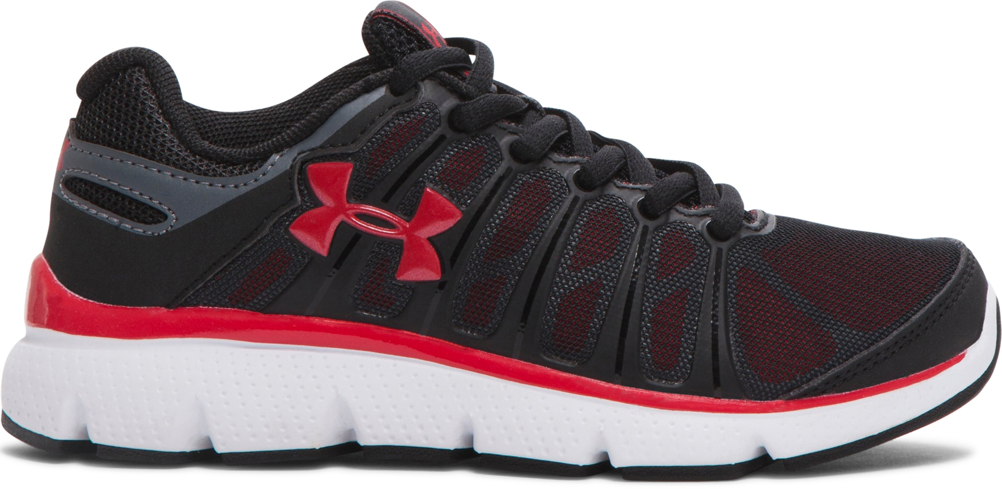 Boys' Pre-School UA Pulse II Shoes, Black , zoomed image