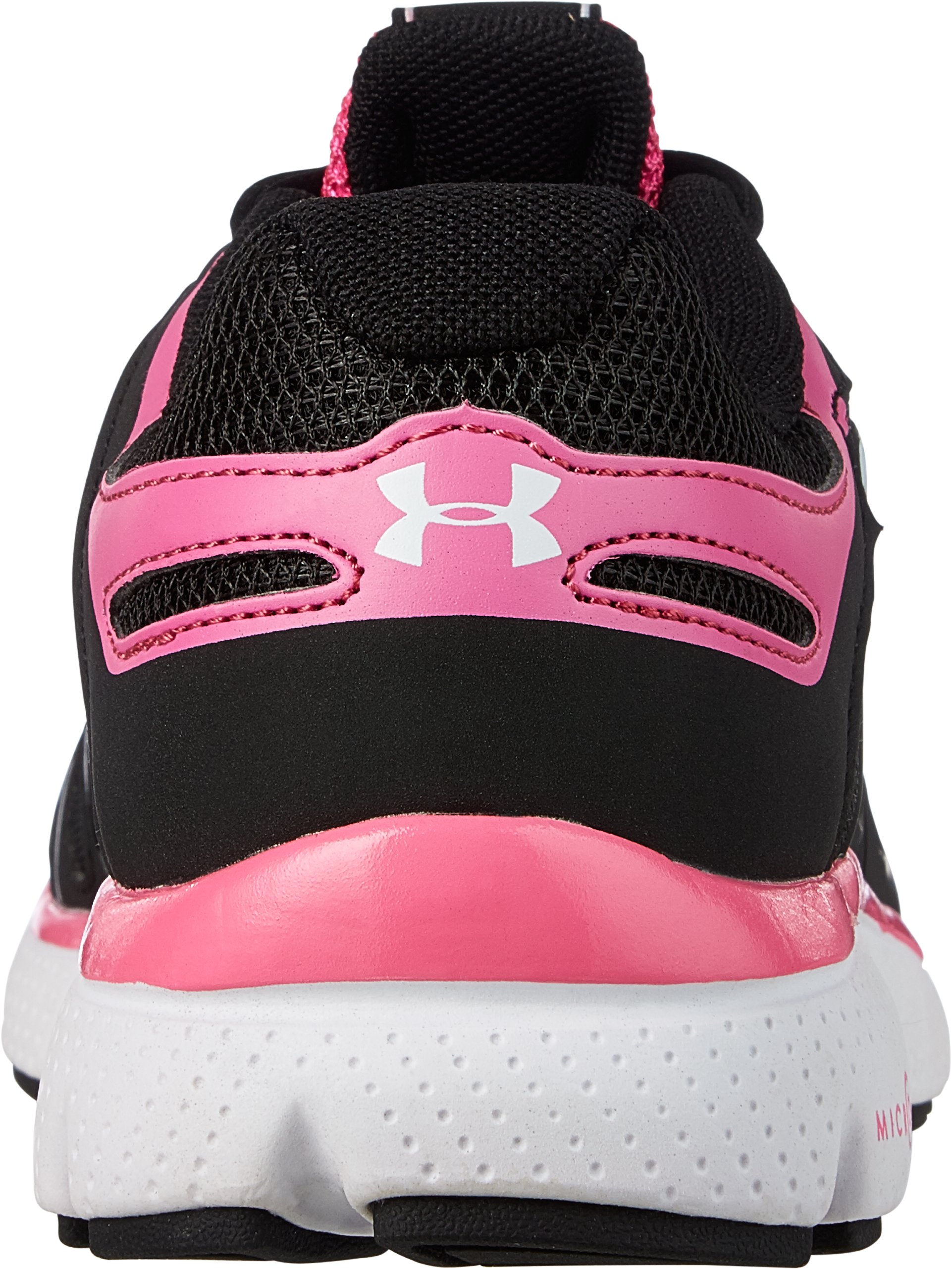 Girls' Grade School UA Micro G® Pulse II Running Shoe, Black , undefined