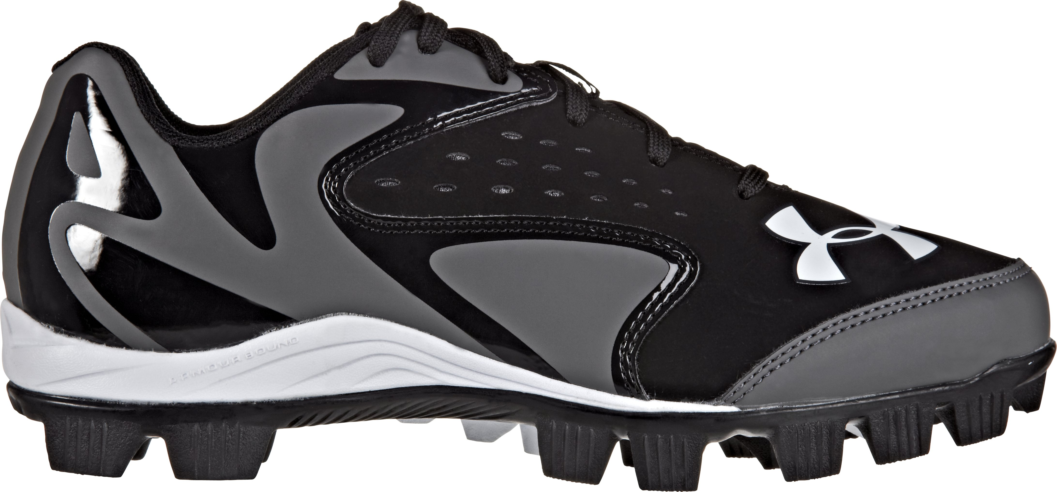 Kids' UA Leadoff Low Jr RM Baseball Cleats, Black