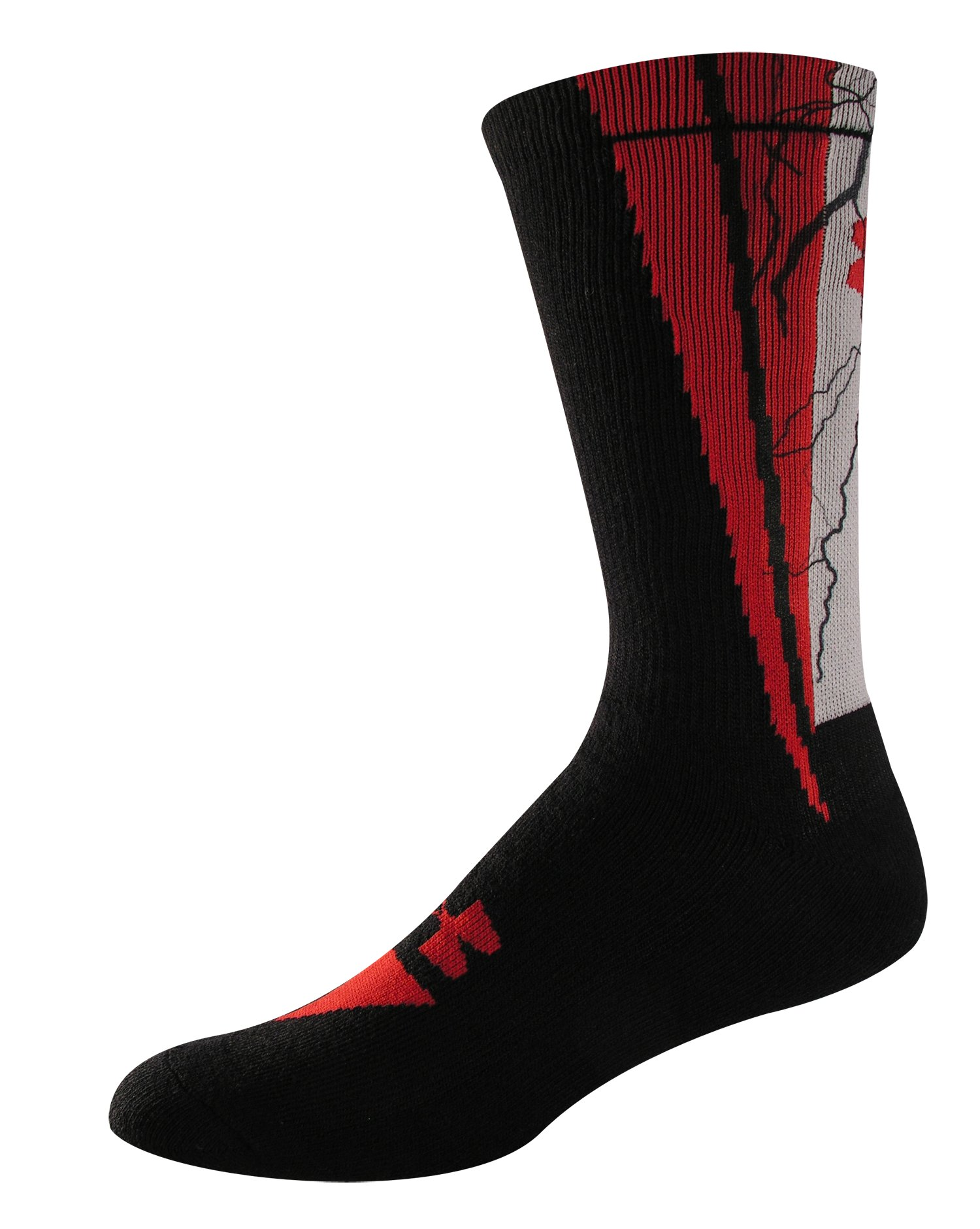 UA Ignite Sublimated Crew Socks, Black , zoomed image