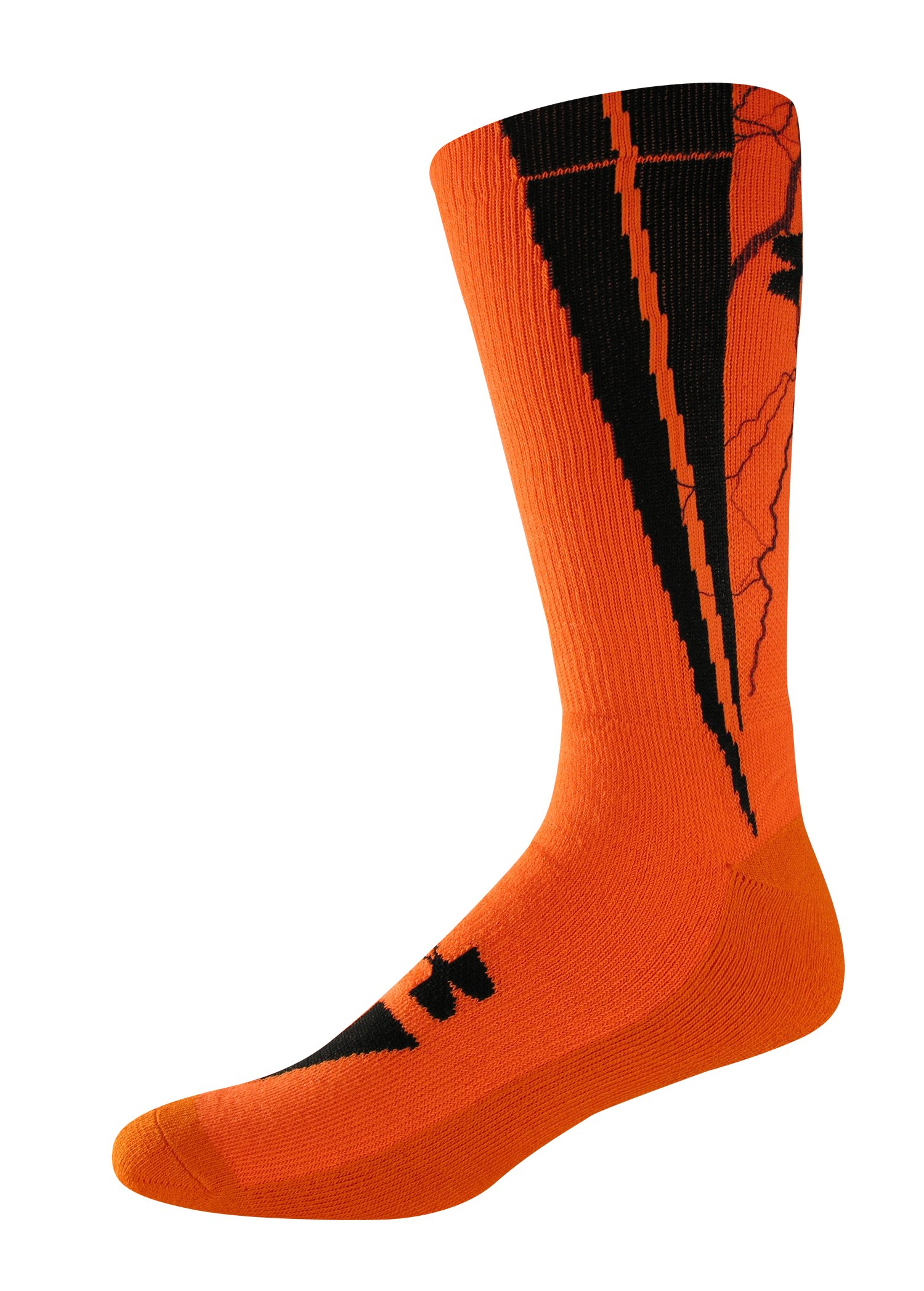 UA Ignite Sublimated Crew Socks, Blaze Orange, zoomed image