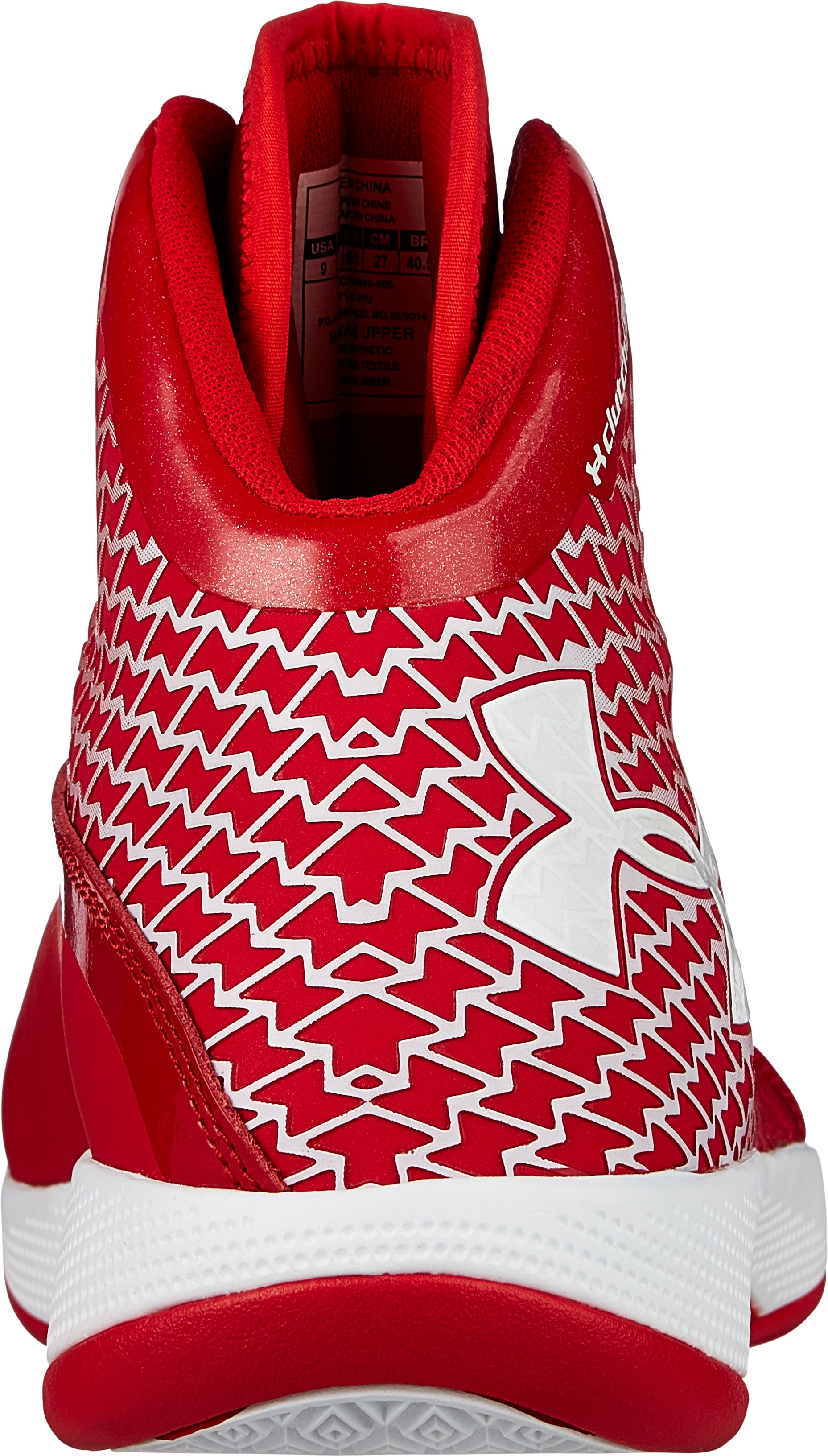 Men's UA Micro G® Torch Basketball Shoes, Red