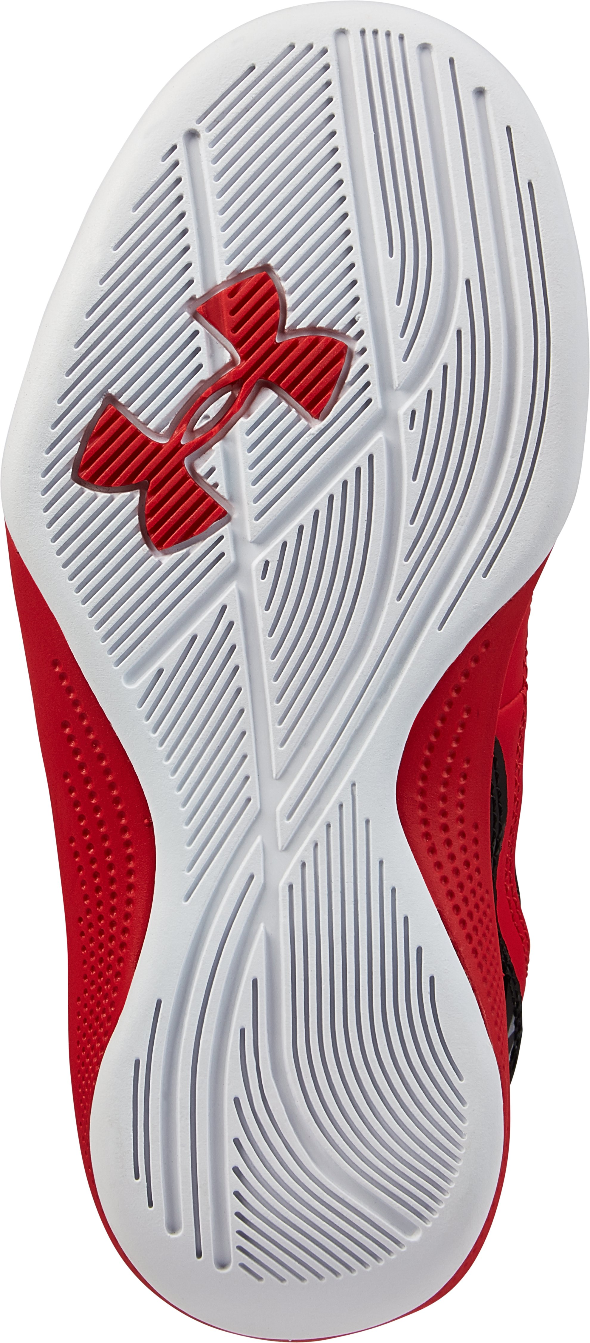 Kids' Pre-School UA Jet Basketball Shoes, Red
