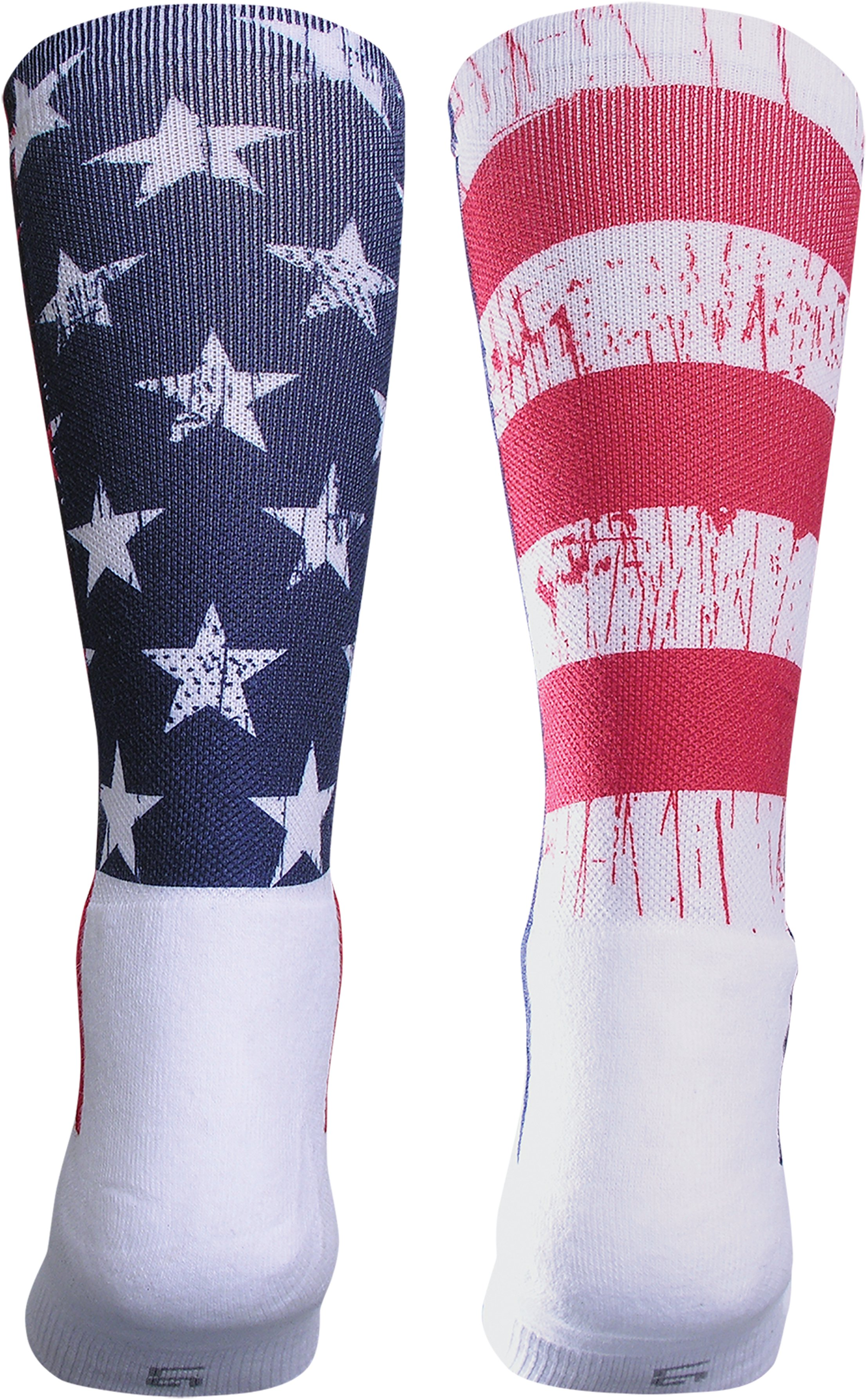 UA Stars & Stripes Crew Socks, White