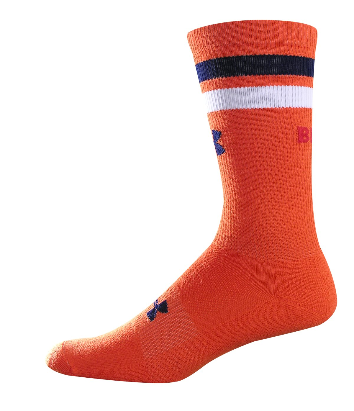 UA No Flow Bro Crew Socks, Orange , zoomed image