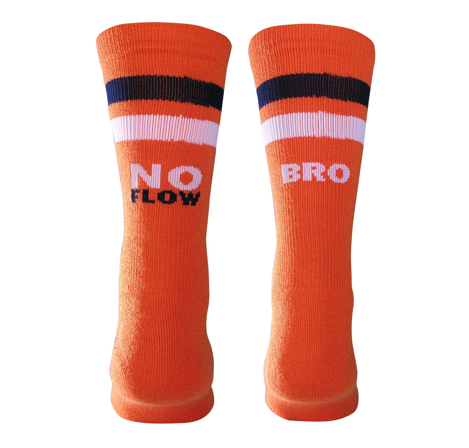 UA No Flow Bro Crew Socks, Orange