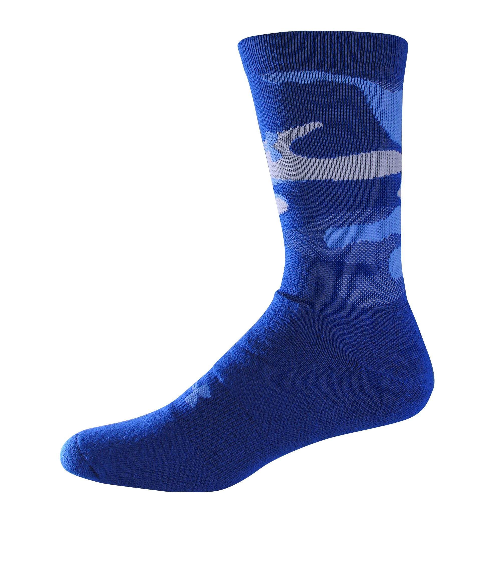 Men's UA Camo Crew Socks, Royal