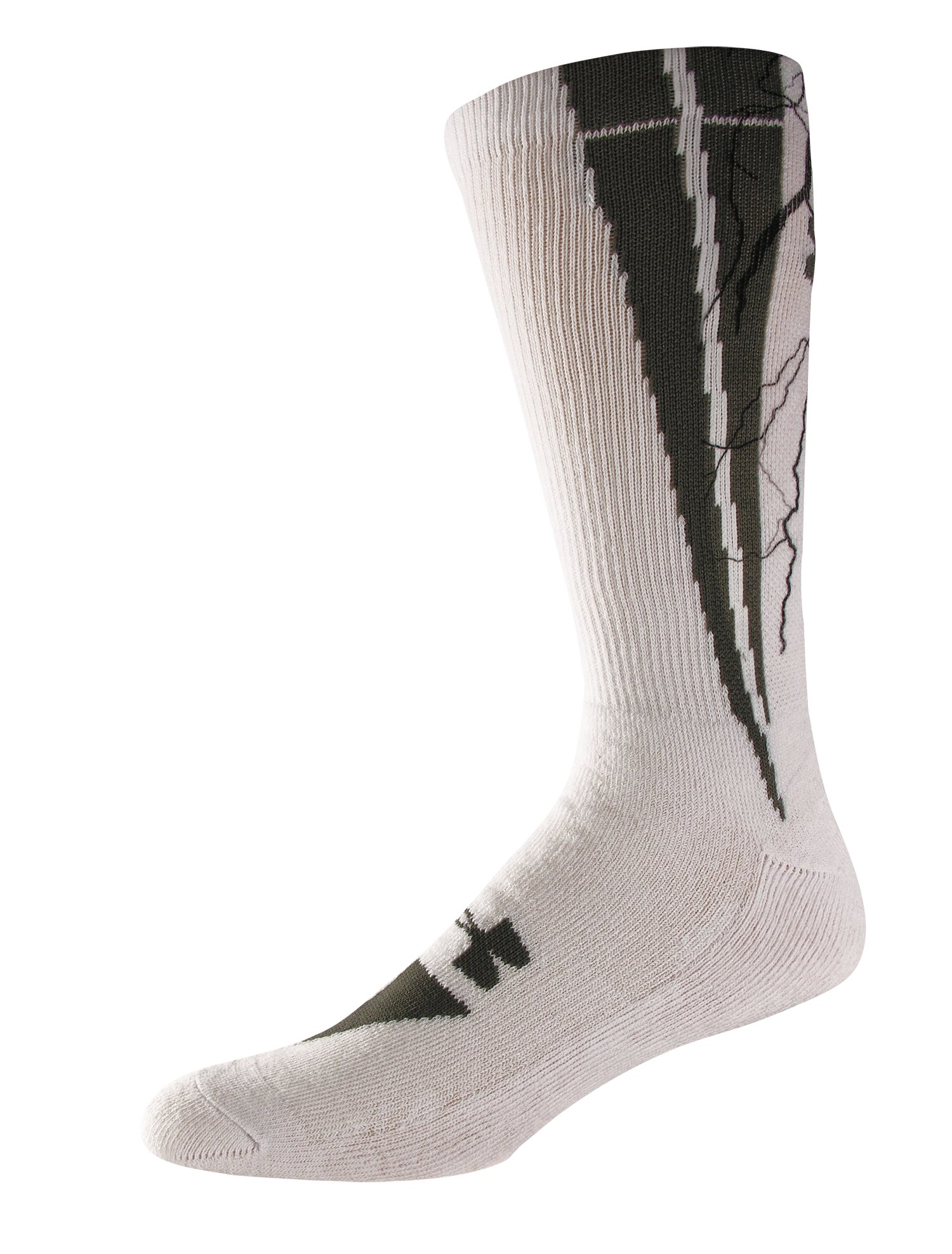 UA Ignite Sublimated Crew Socks, White, zoomed image