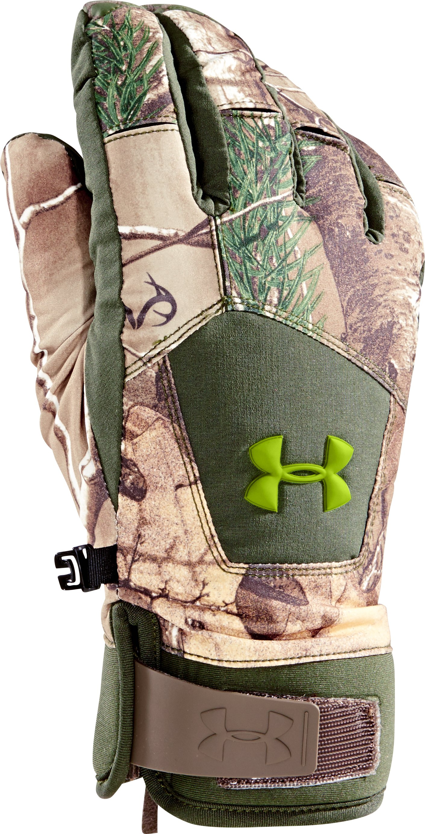 Men's UA Scent Control ColdGear® Infrared Primer Gloves, REALTREE AP-XTRA