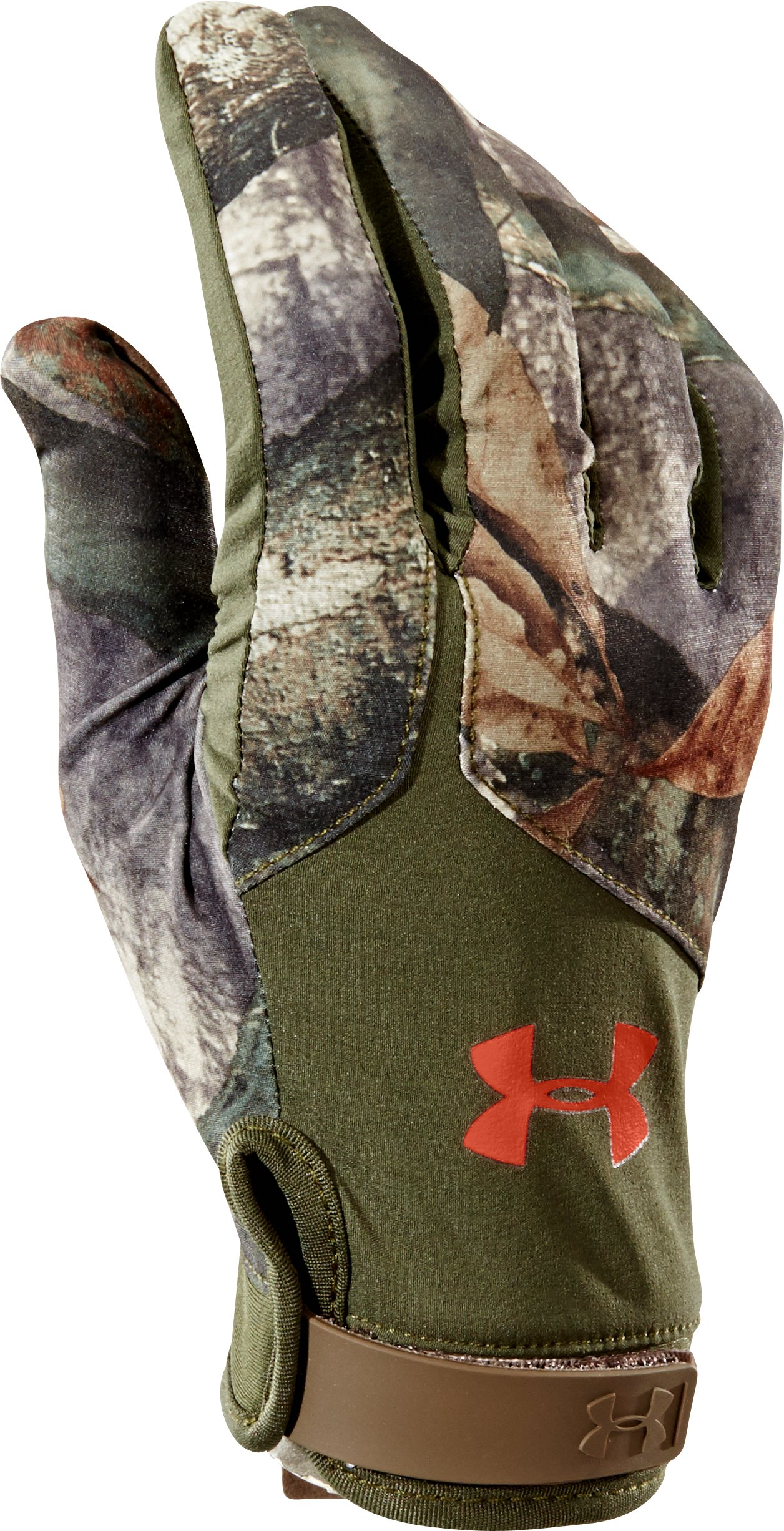 Men's UA Anchor Point Gloves, Mossy Oak Treestand, zoomed image
