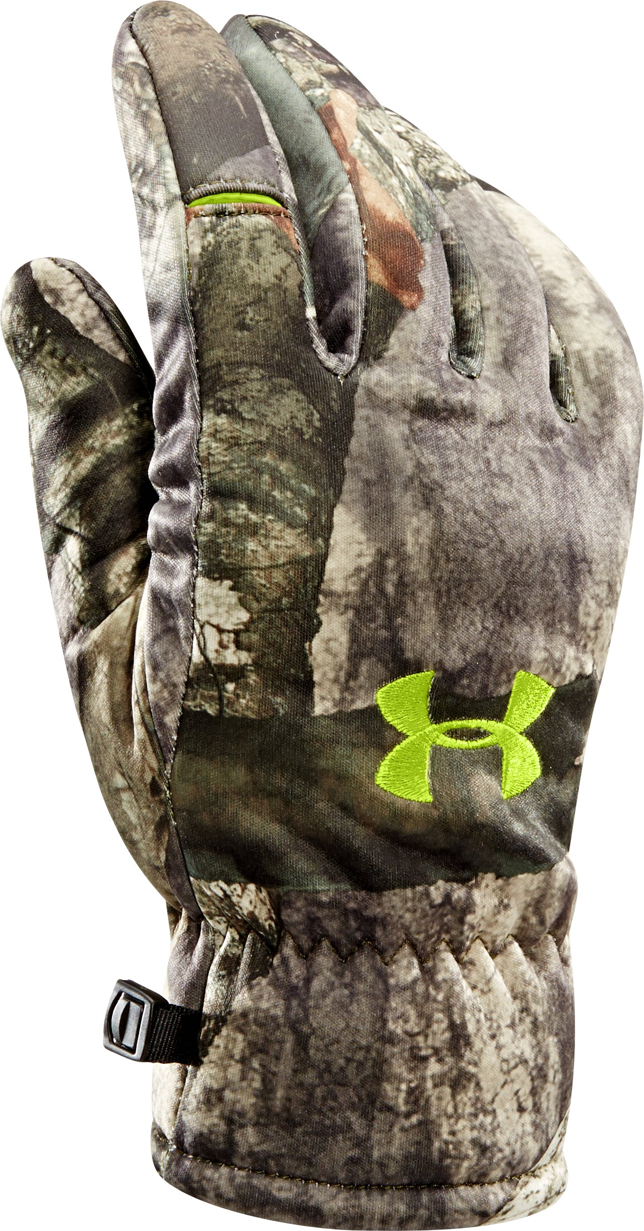 Men's UA Scent Control Deadcalm Gloves, Mossy Oak Treestand