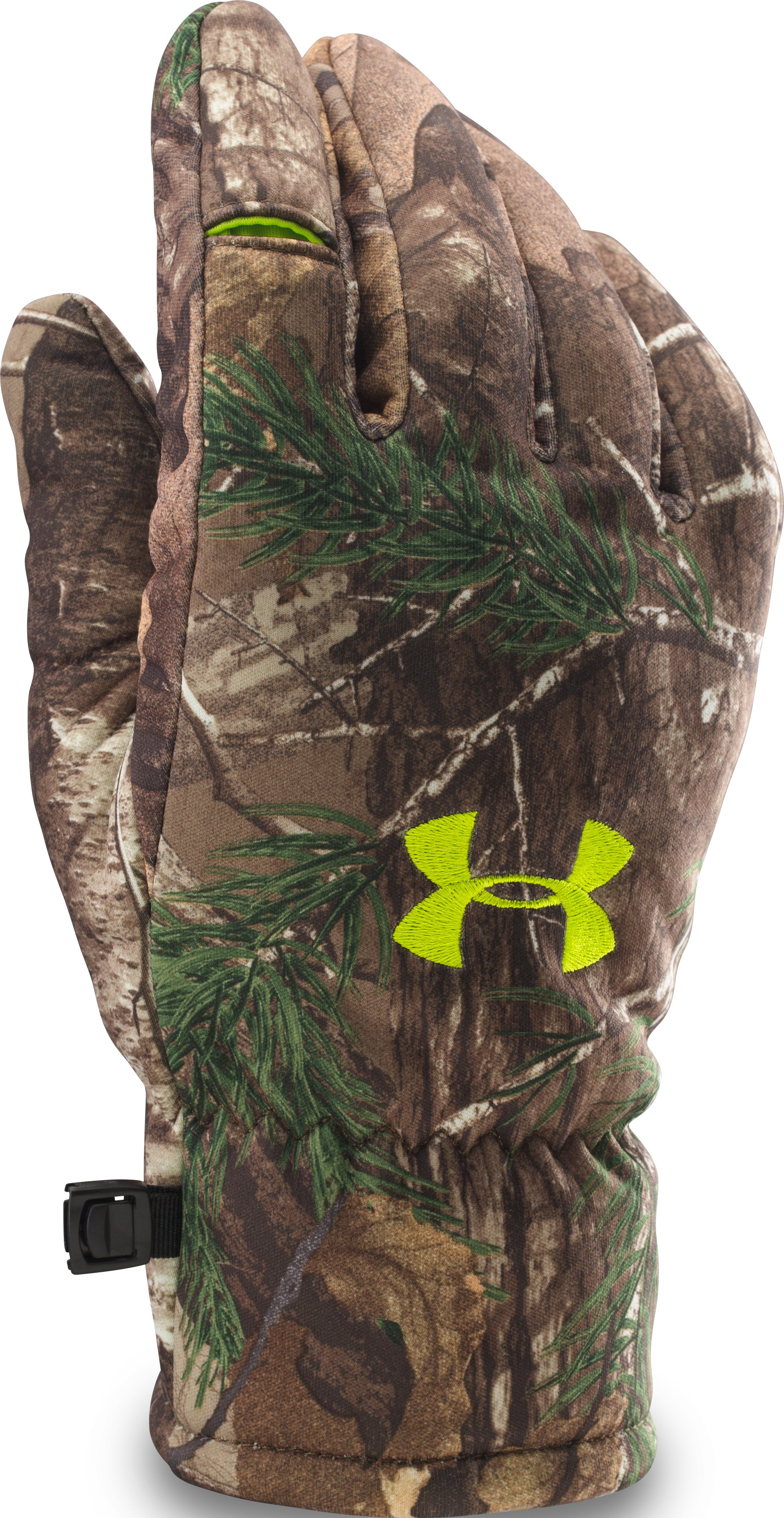 Men's UA Scent Control Deadcalm Gloves, REALTREE AP-XTRA