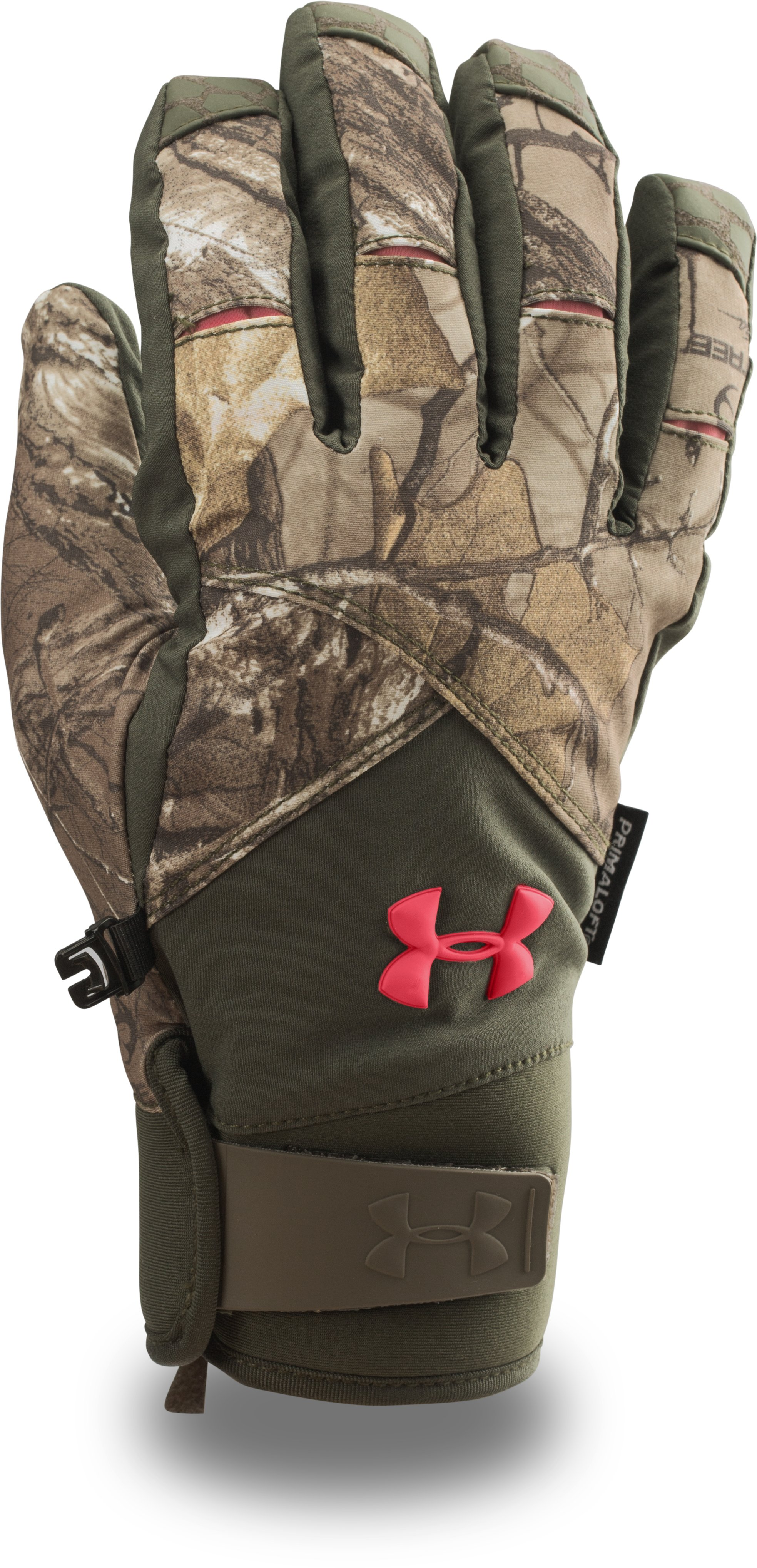 Women's UA ColdGear® Infrared Scent Control Primer Gloves, REALTREE AP-XTRA, zoomed image