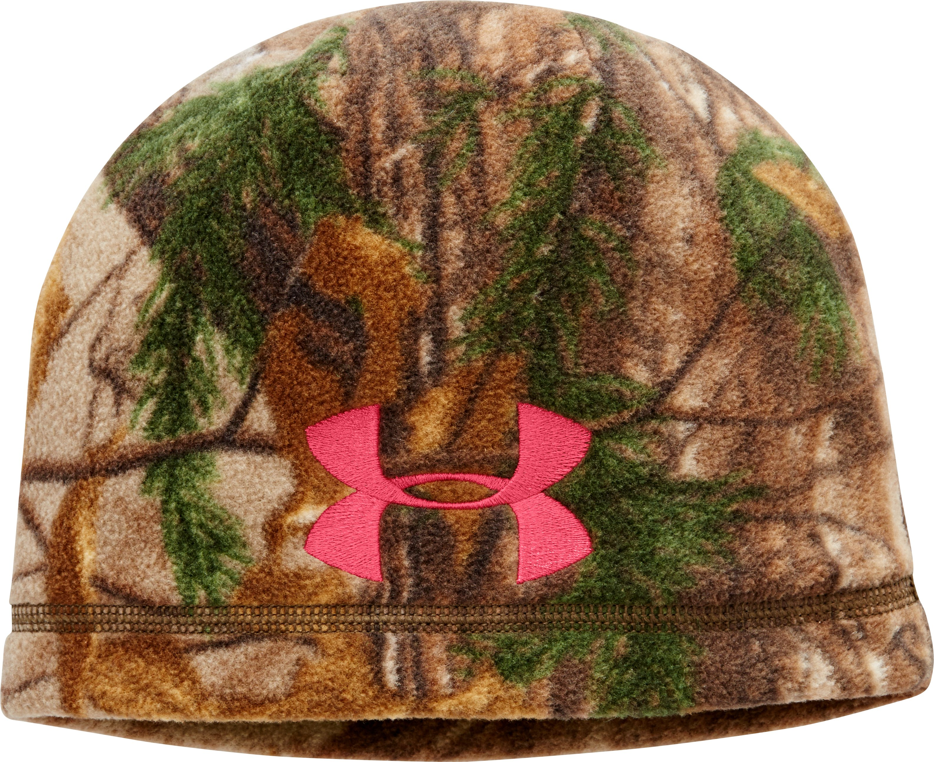 Women's UA ColdGear® Infrared Scent Control Camo Beanie, REALTREE AP-XTRA, zoomed image