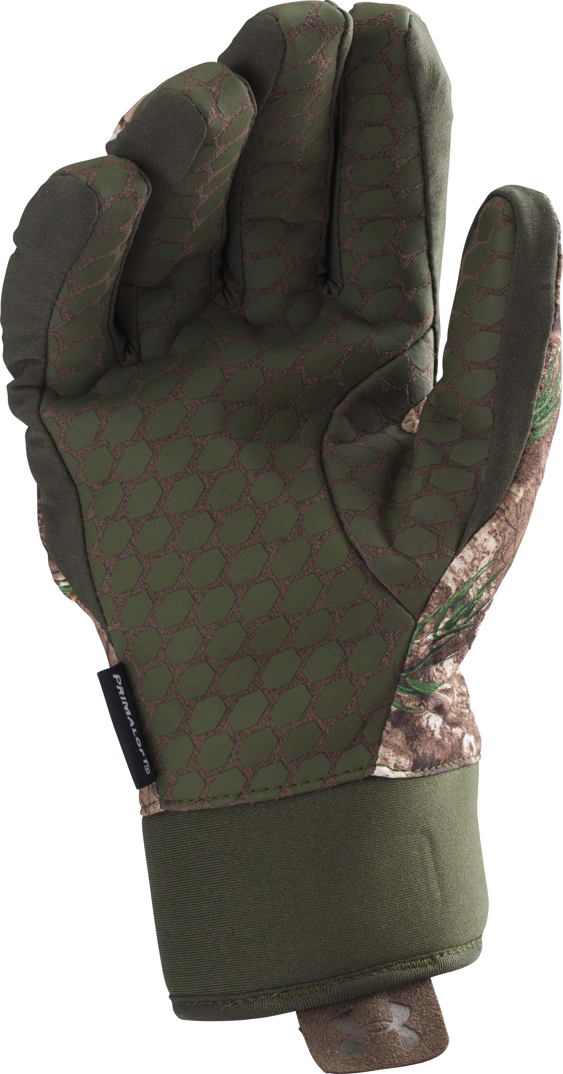 Boys' UA Scent Control ColdGear® Infrared Primer Gloves, REALTREE AP-XTRA, undefined