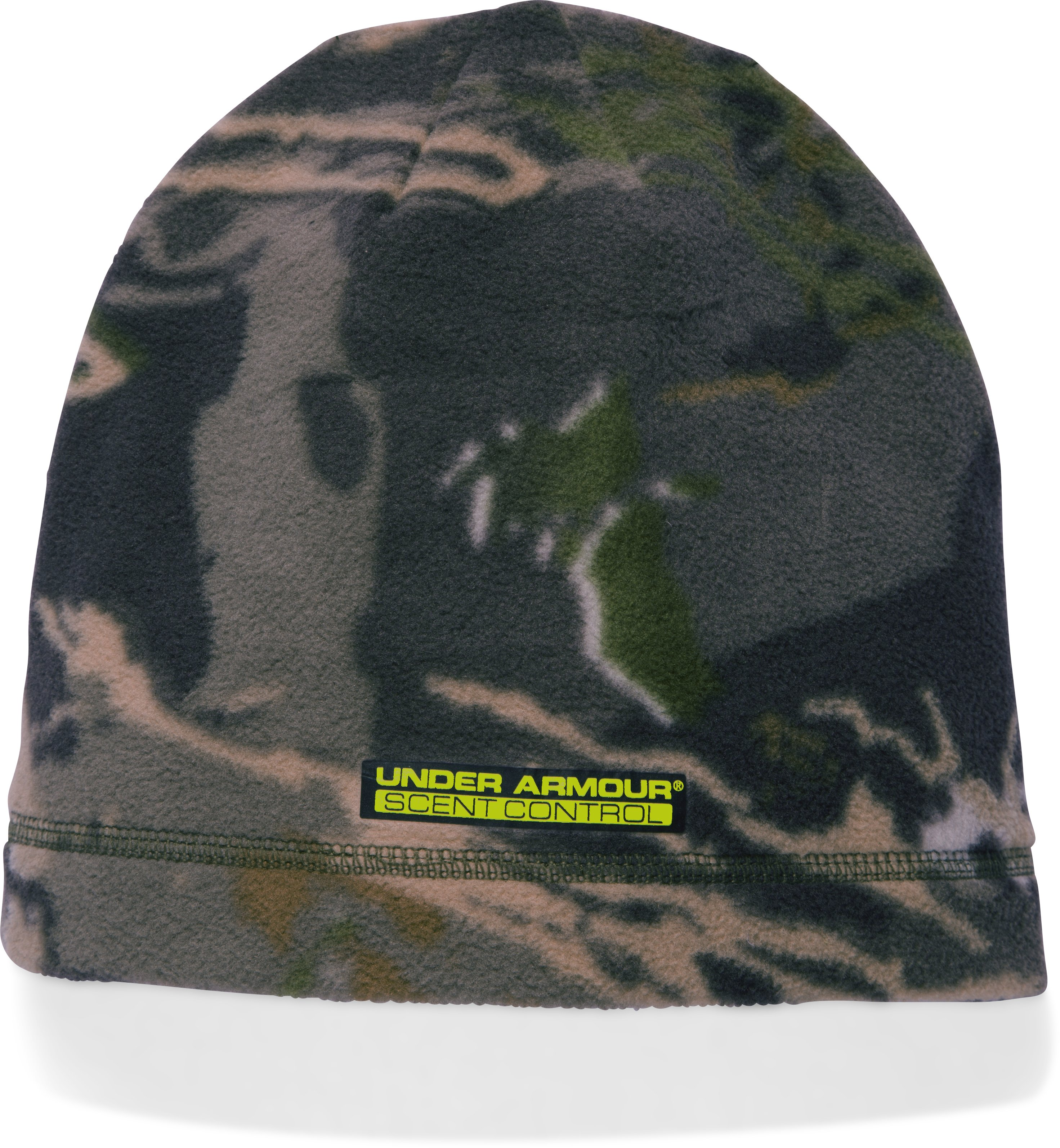 Boys' UA Scent Control ColdGear® Infrared Beanie, RIDGE REAPER® FOREST,