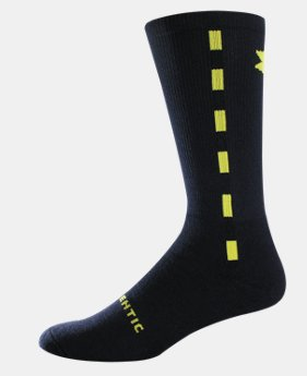 UA Ticker Tape Crew Socks
