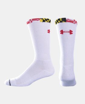 UA Maryland Flag Crew Socks