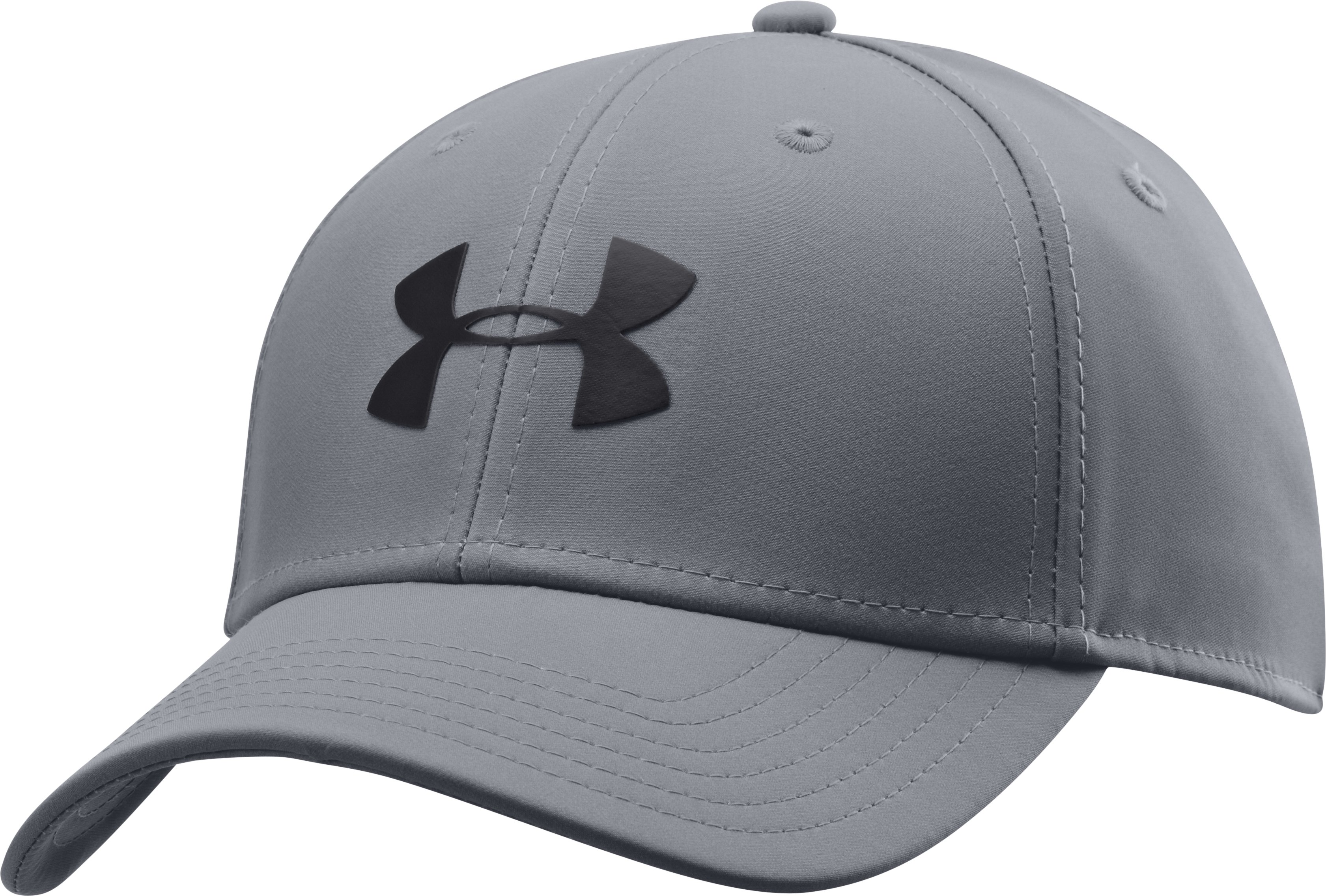 Men's UA Golf Headline Stretch Fit Cap, Steel, zoomed image