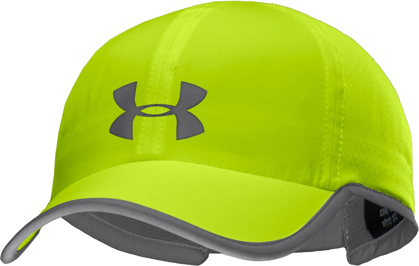 Men's HeatGear® ArmourVent™ Adjustable Cap, High-Vis Yellow, zoomed image