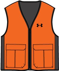 Boys' UA Blaze Antler Logo Hunting Vest, Blaze Orange, undefined